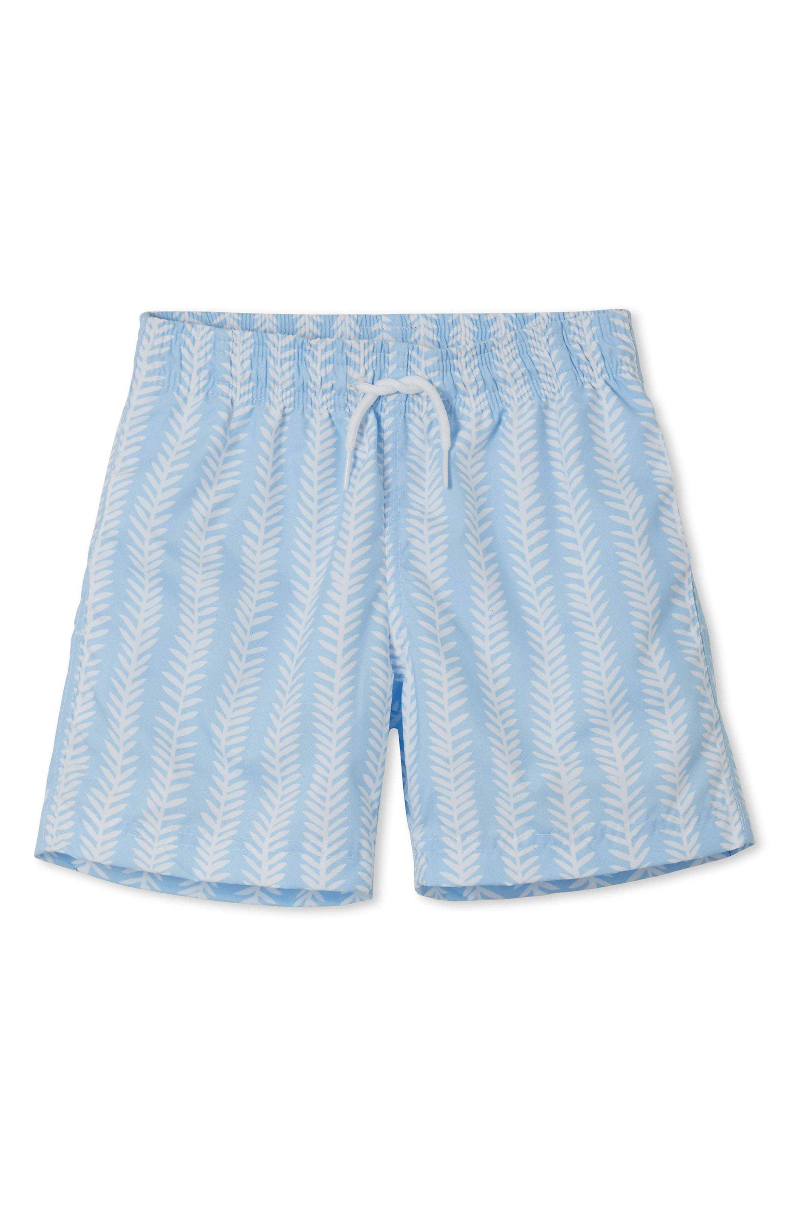 Coral Laurel Swim Trunks,                             Main thumbnail 1, color,                             Blue