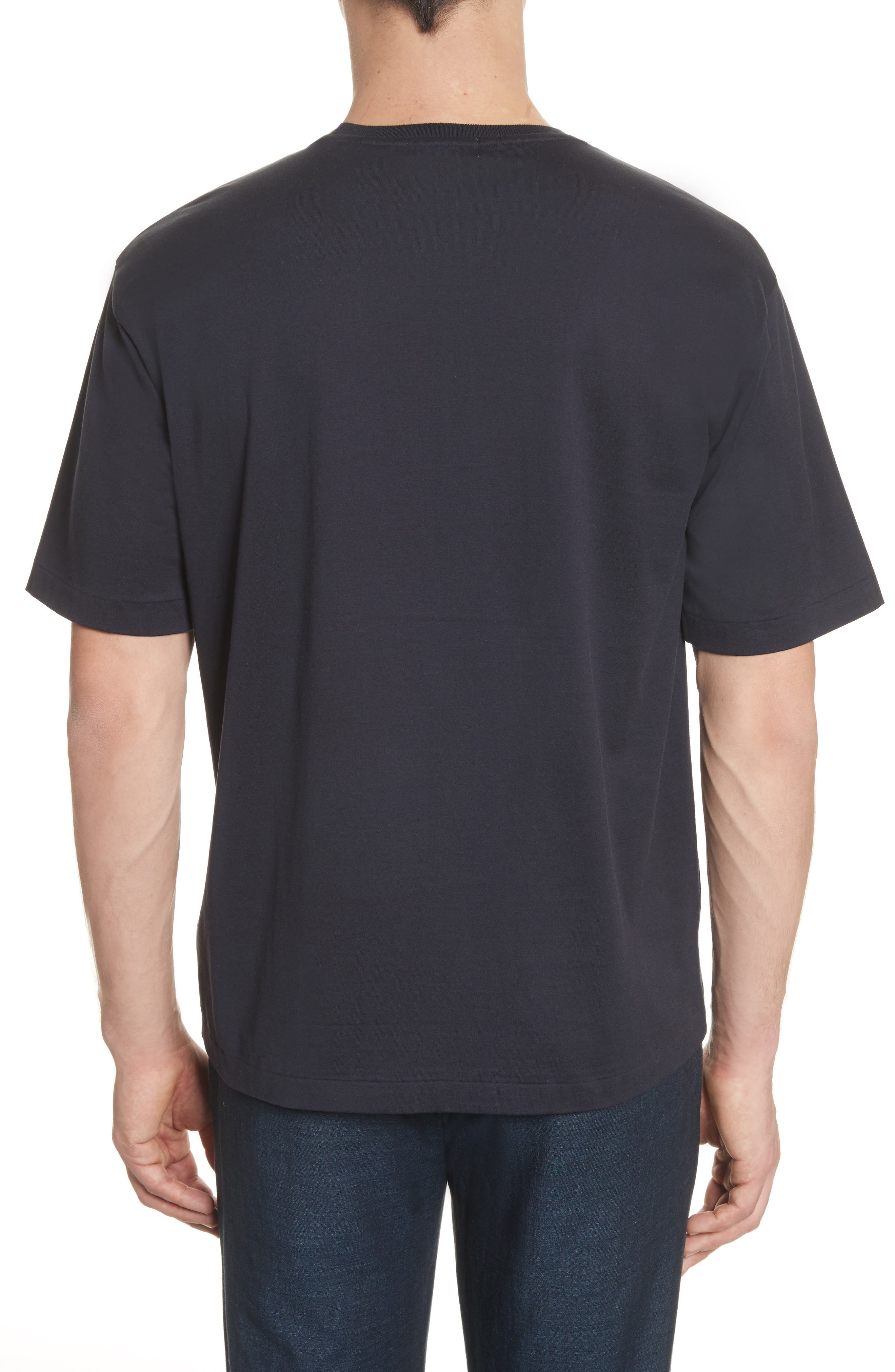 Jersey T-Shirt,                             Alternate thumbnail 2, color,                             Navy
