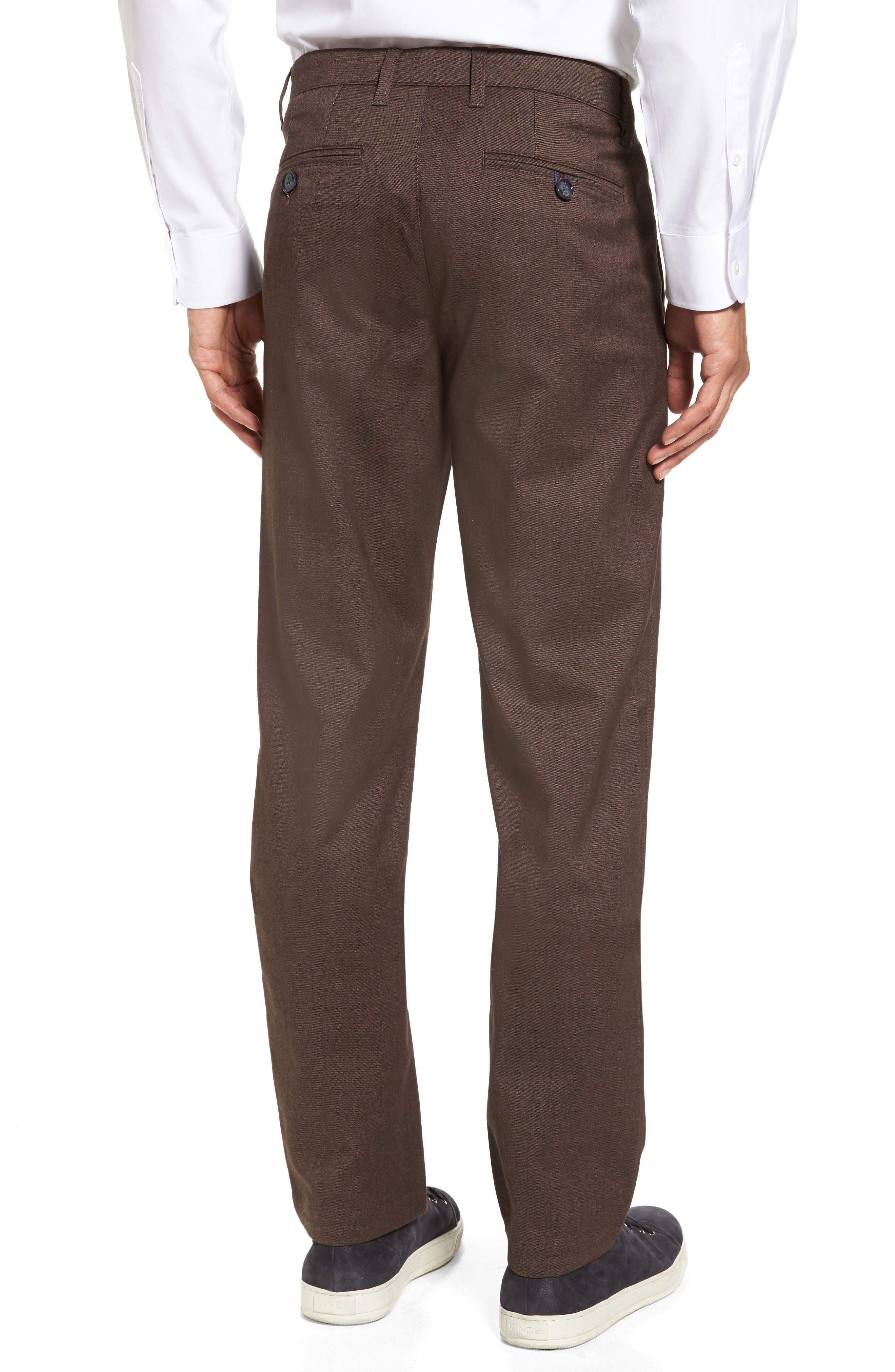 Freshman Modern Fit Brushed Pants,                             Alternate thumbnail 2, color,                             Brown