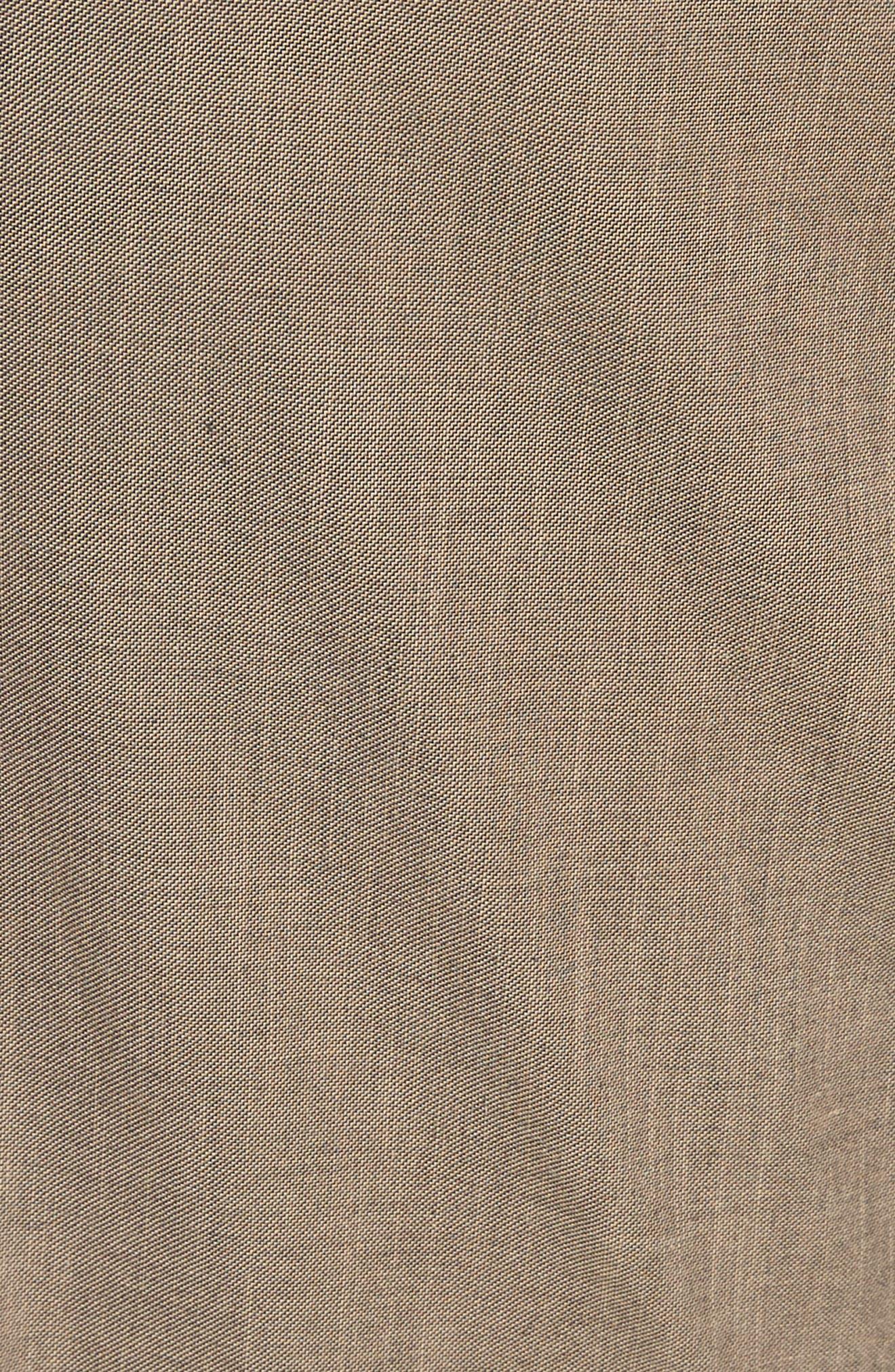 French Pocket Stretch Straight Leg Pants,                             Alternate thumbnail 5, color,                             Dark Beige