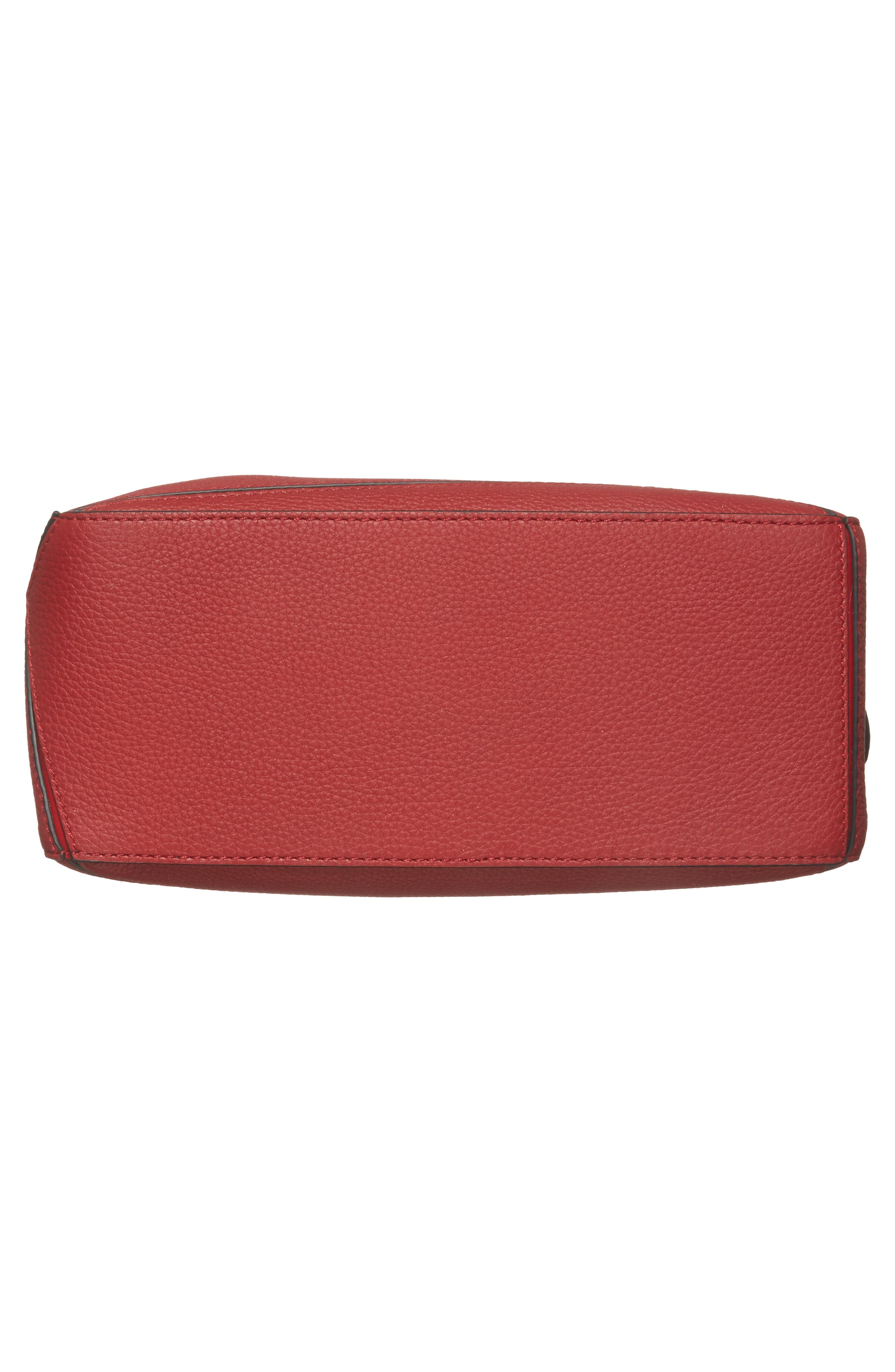 Small Puzzle Leather Shoulder Bag,                             Alternate thumbnail 6, color,                             Rouge