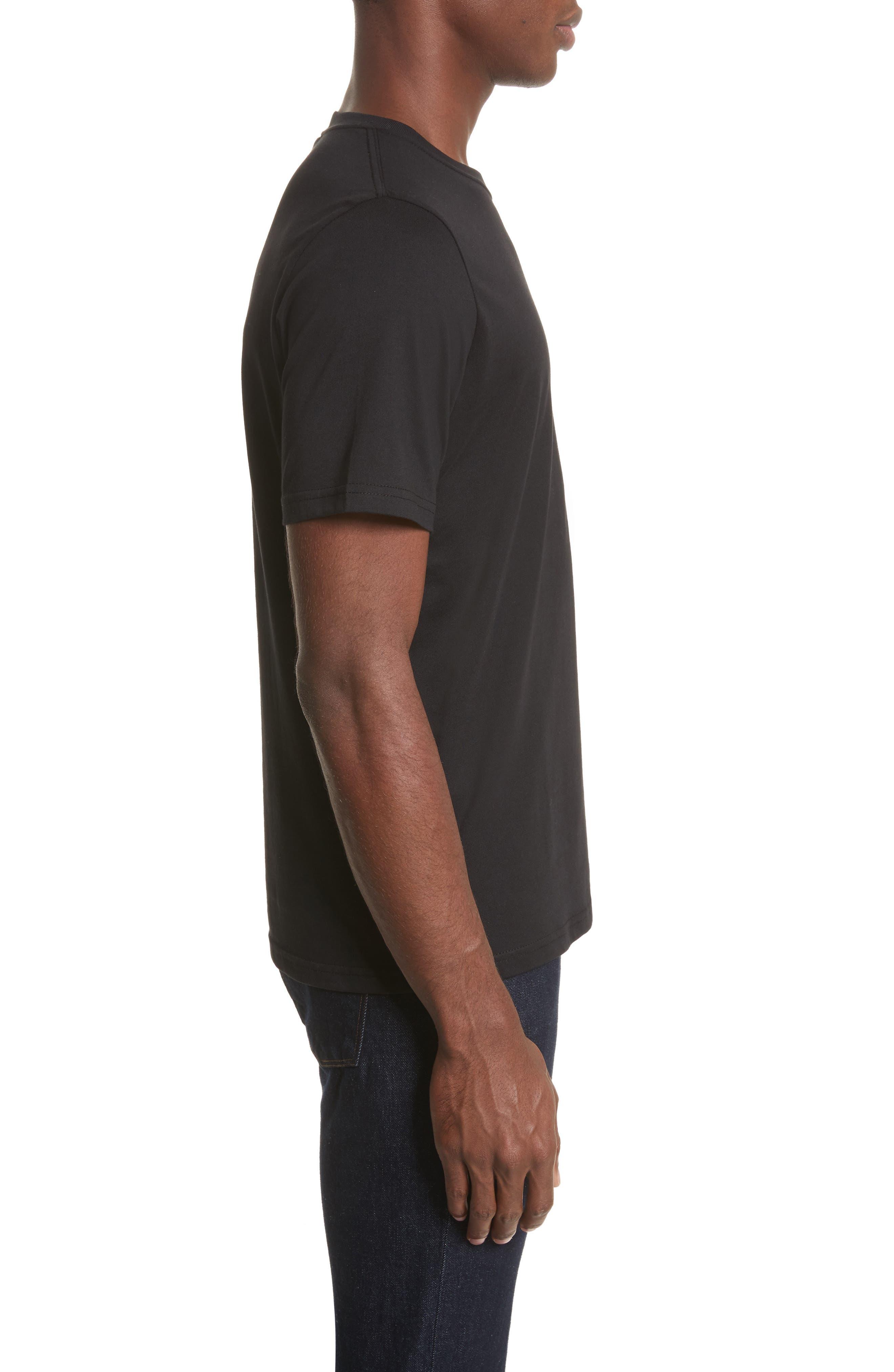 Embroidered Zebra T-Shirt,                             Alternate thumbnail 3, color,                             Black