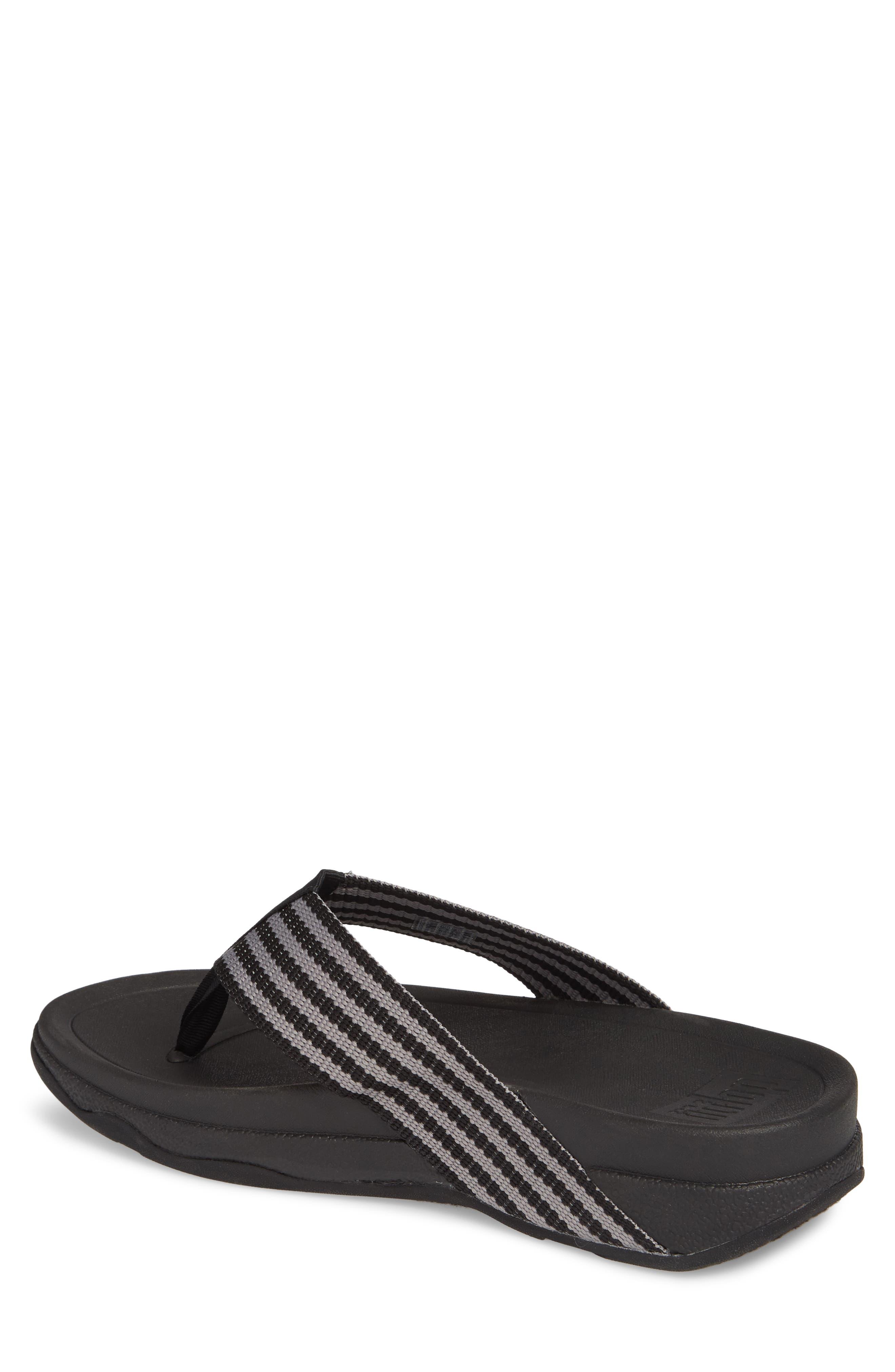 'Surfer' Flip Flop,                             Alternate thumbnail 2, color,                             Black / Grey