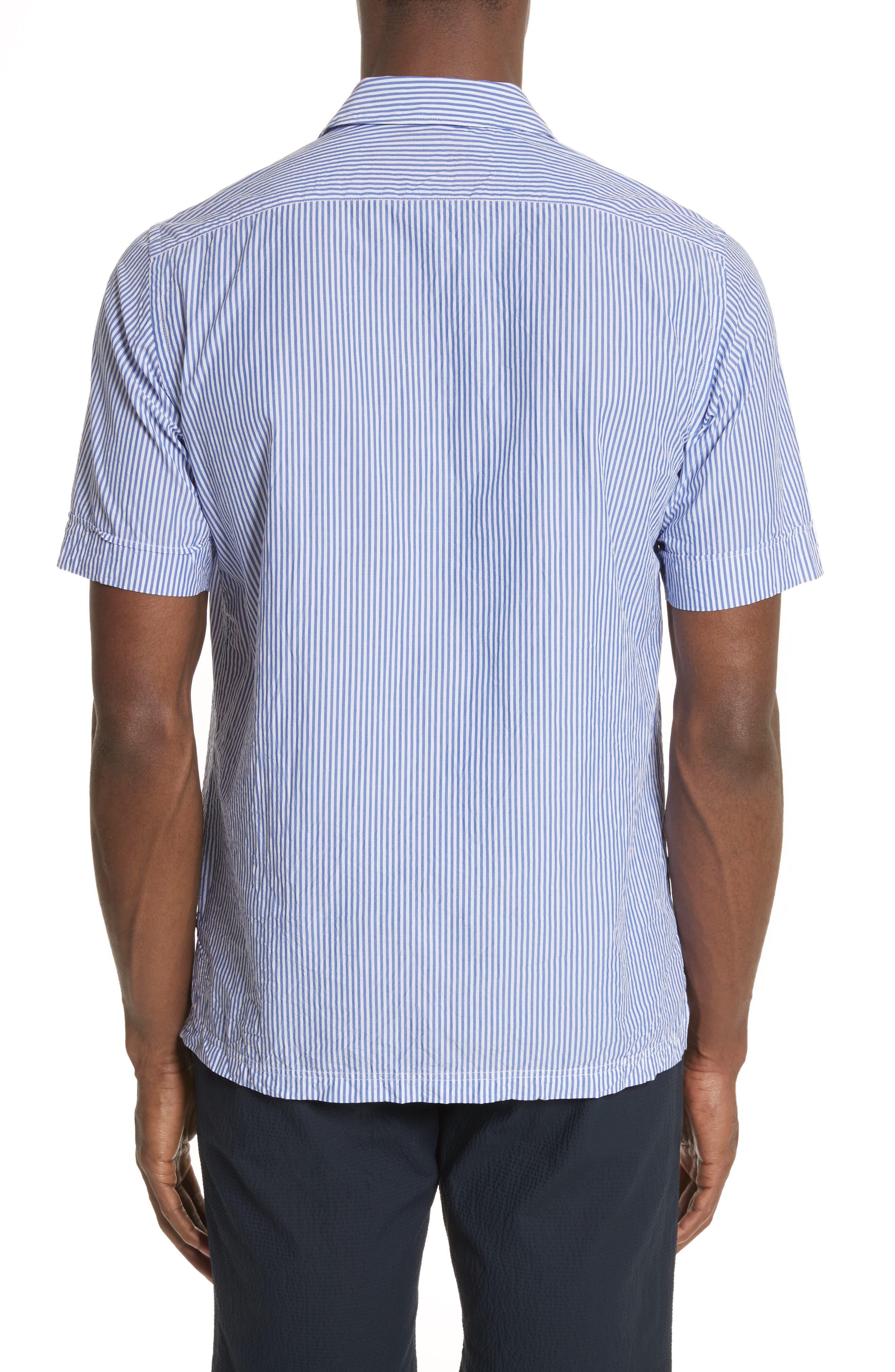 Stripe Seersucker Camp Shirt,                             Alternate thumbnail 2, color,                             41 Blue Multi