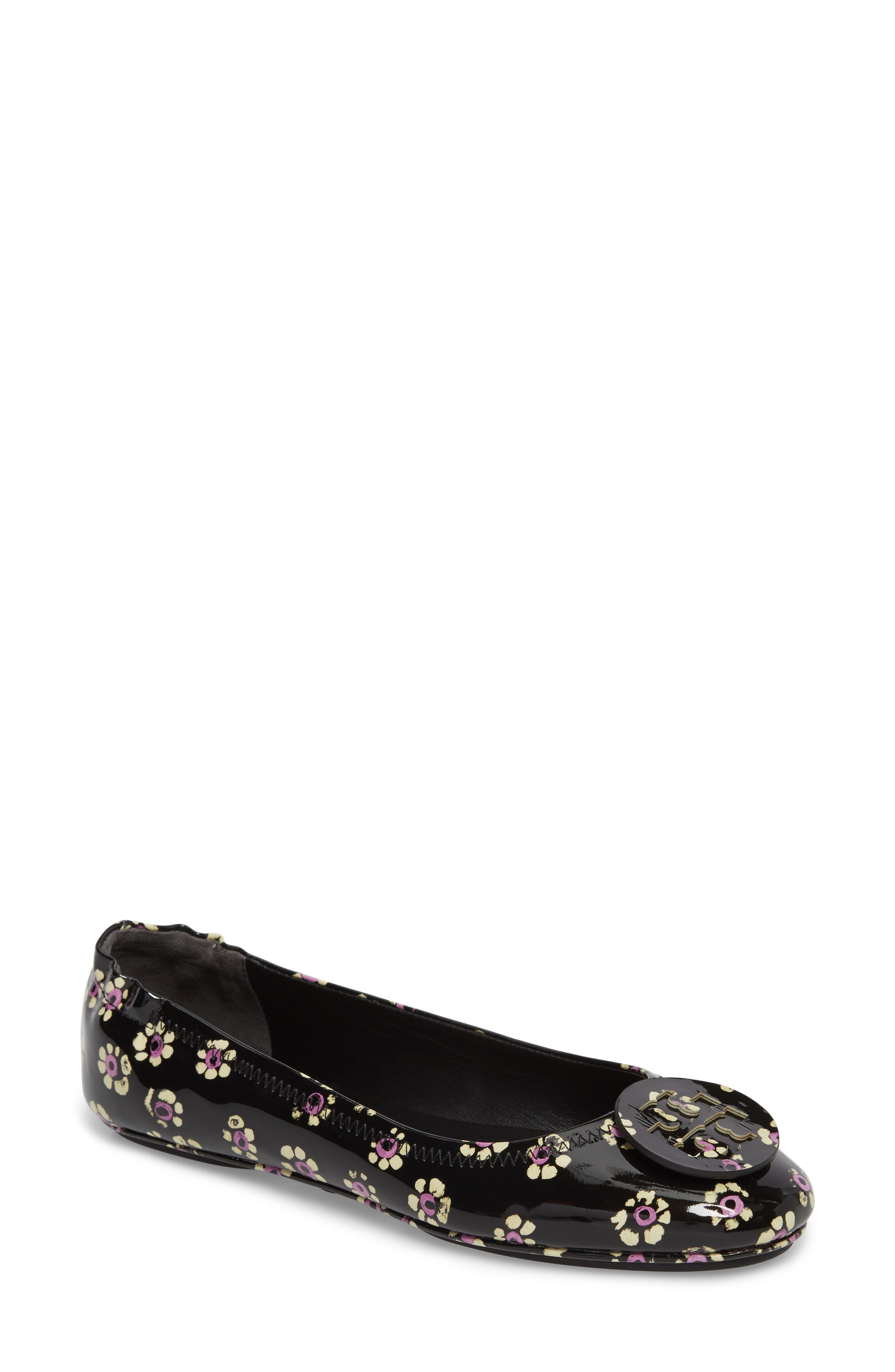 Tory Burch 'Minnie' Travel Ballet Flat (Women)