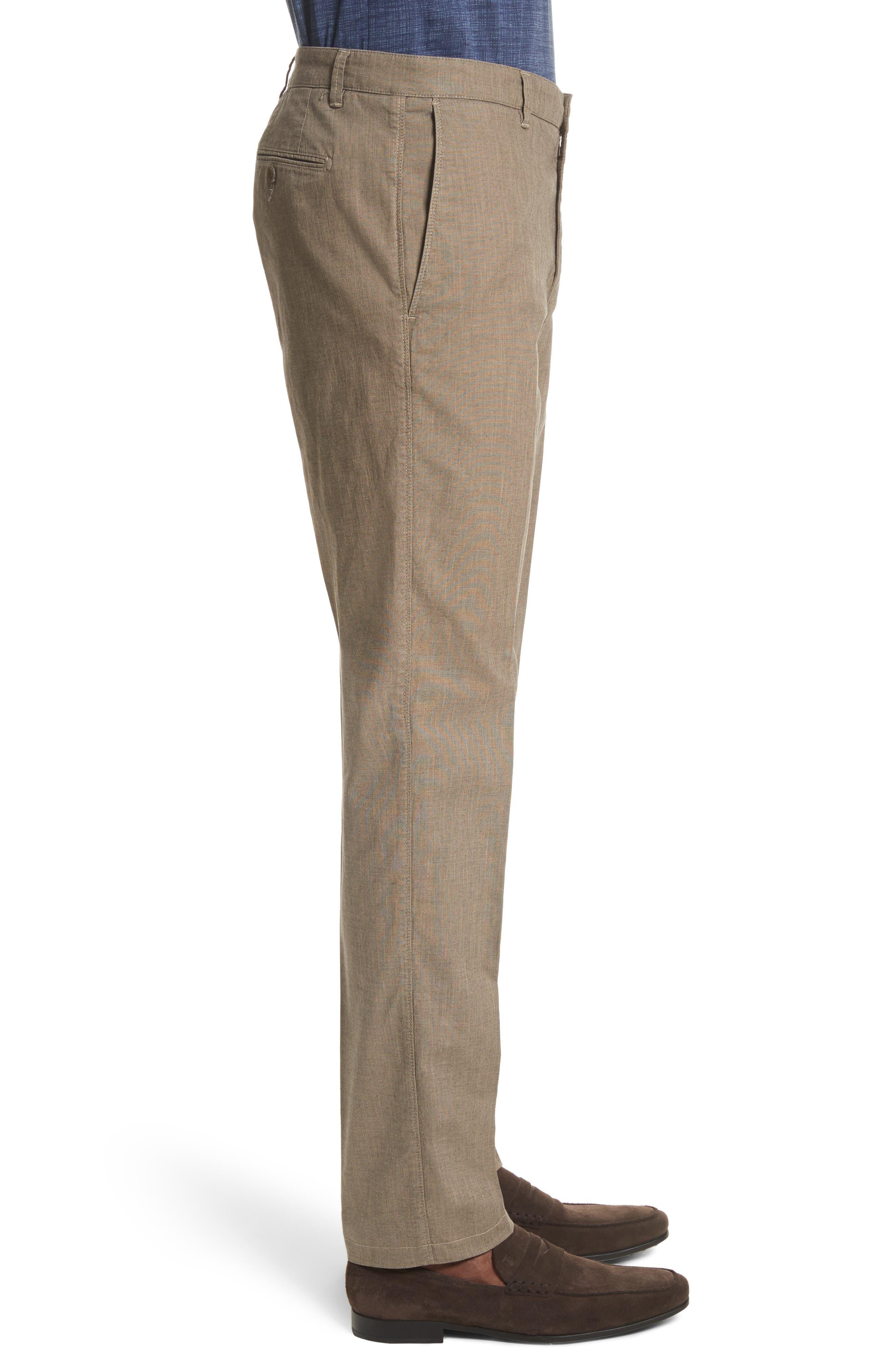 French Pocket Stretch Straight Leg Pants,                             Alternate thumbnail 3, color,                             Dark Beige