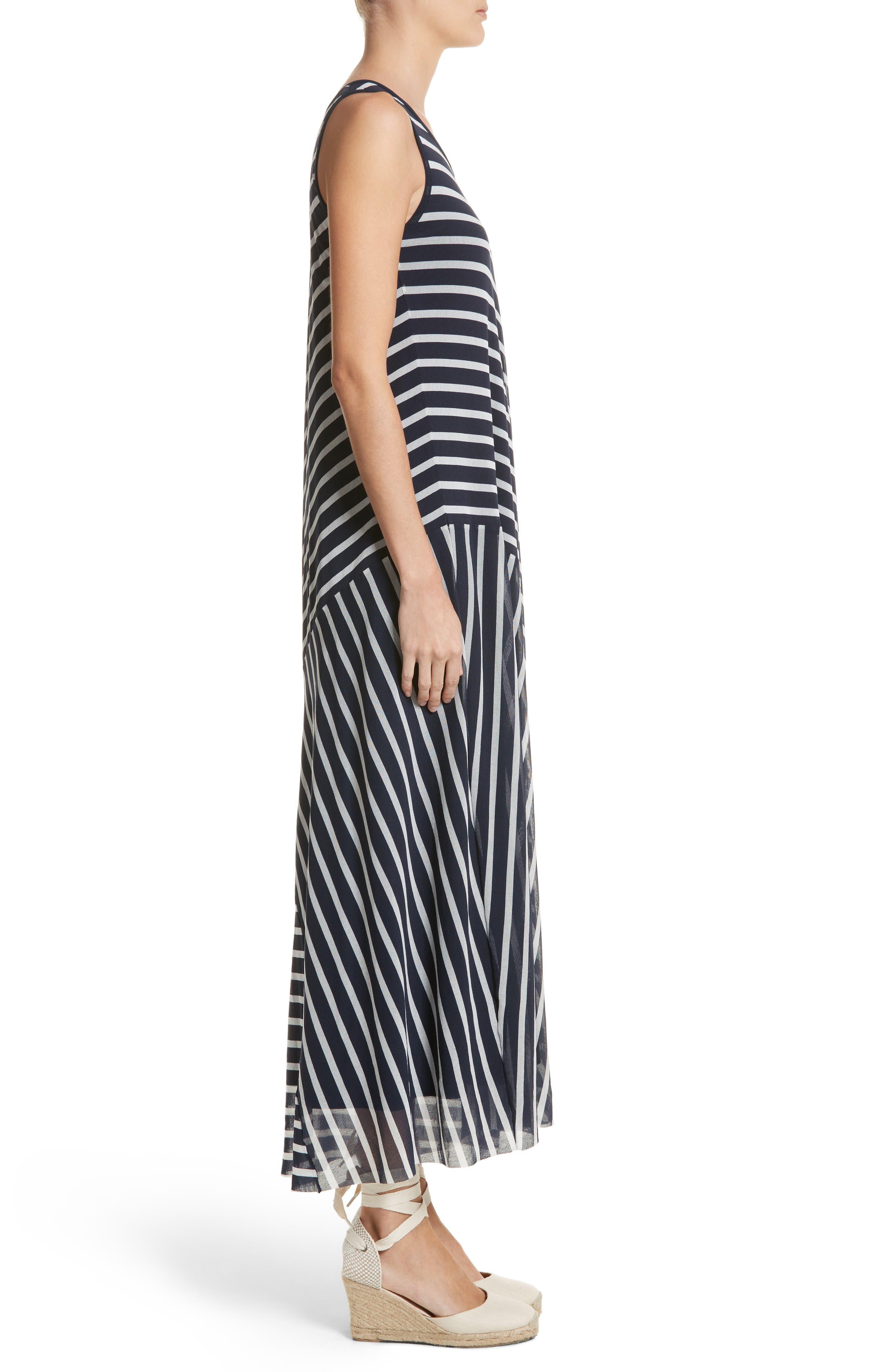 Stripe Maxi Tank Dress,                             Alternate thumbnail 3, color,                             Zaffiro