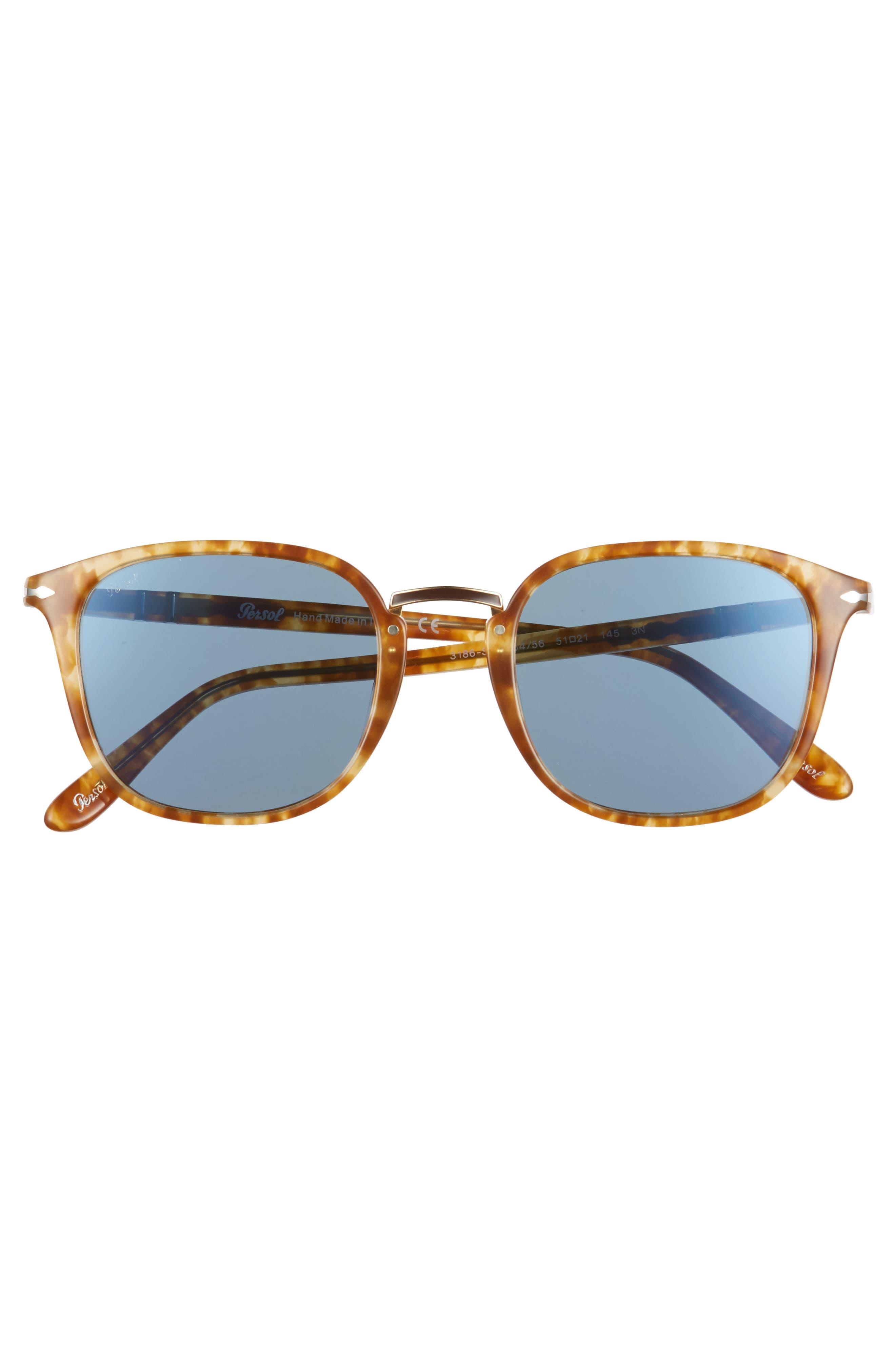 Phantos 51mm Crystal Lens Sunglasses,                             Alternate thumbnail 2, color,                             Beige Tortoise
