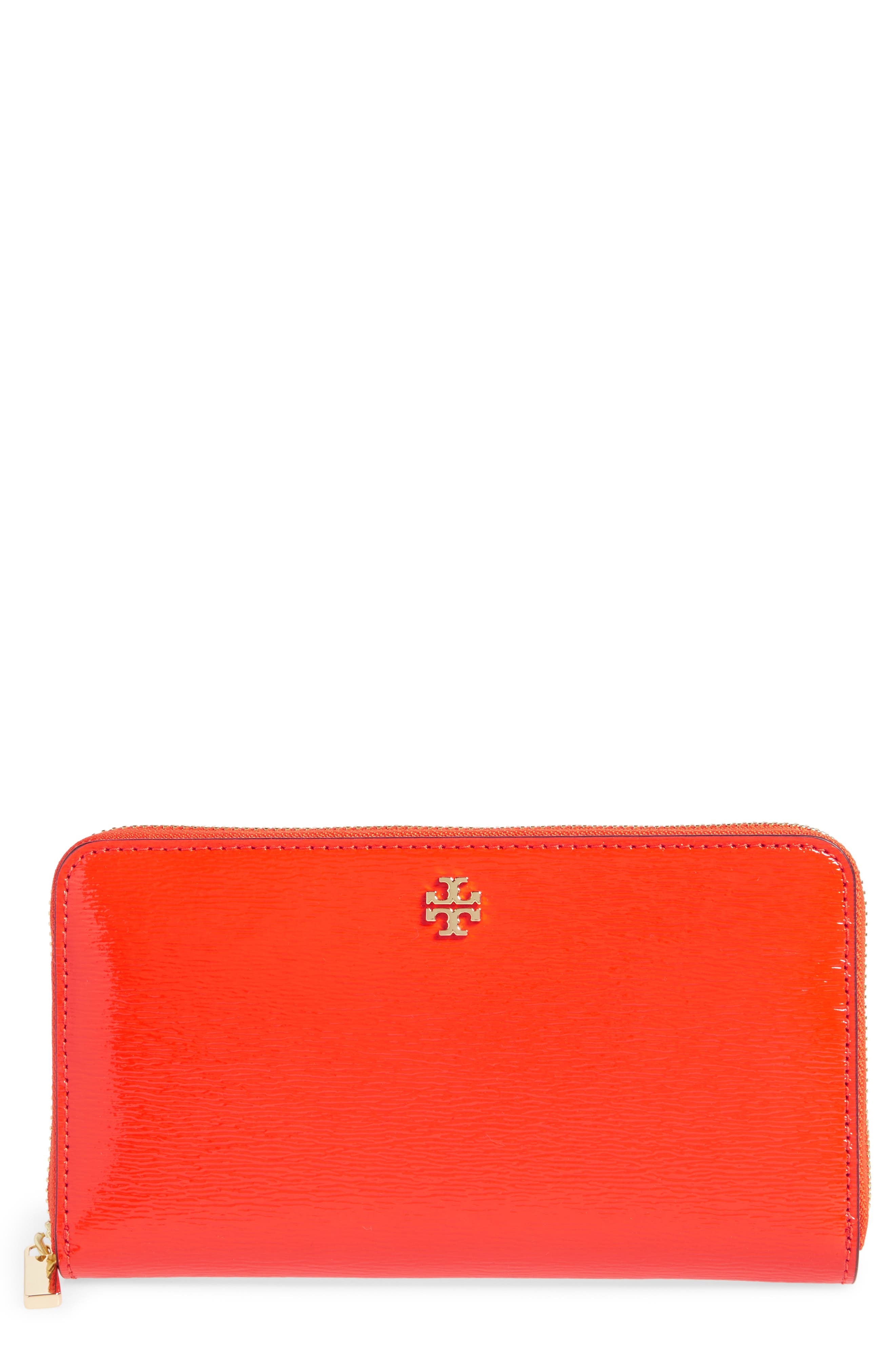 Alternate Image 1 Selected - Tory Burch Robinson Patent Leather Continental Wallet