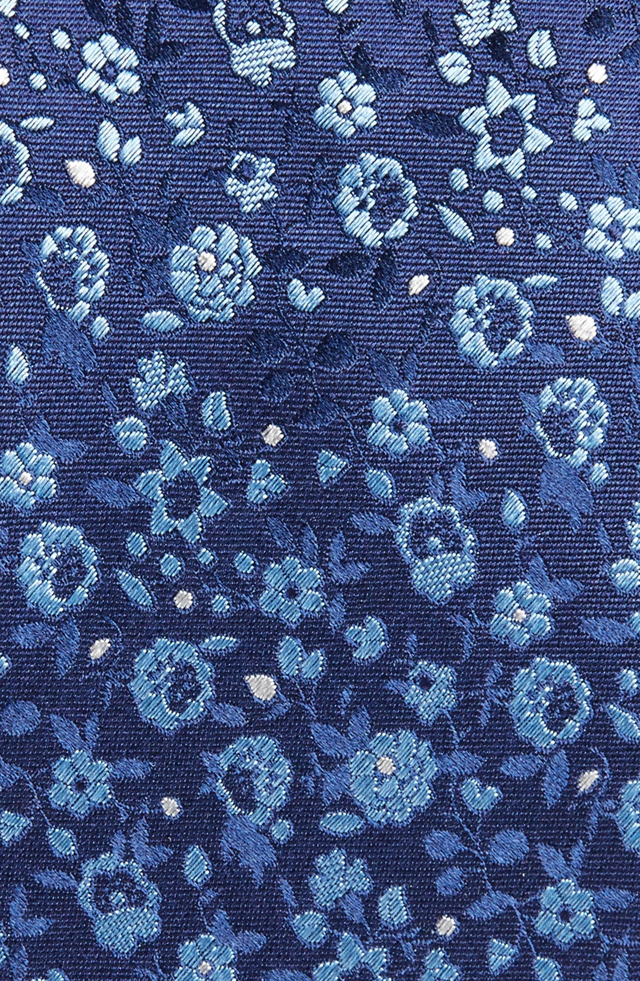 Floral Silk Tie,                             Alternate thumbnail 2, color,                             Navy
