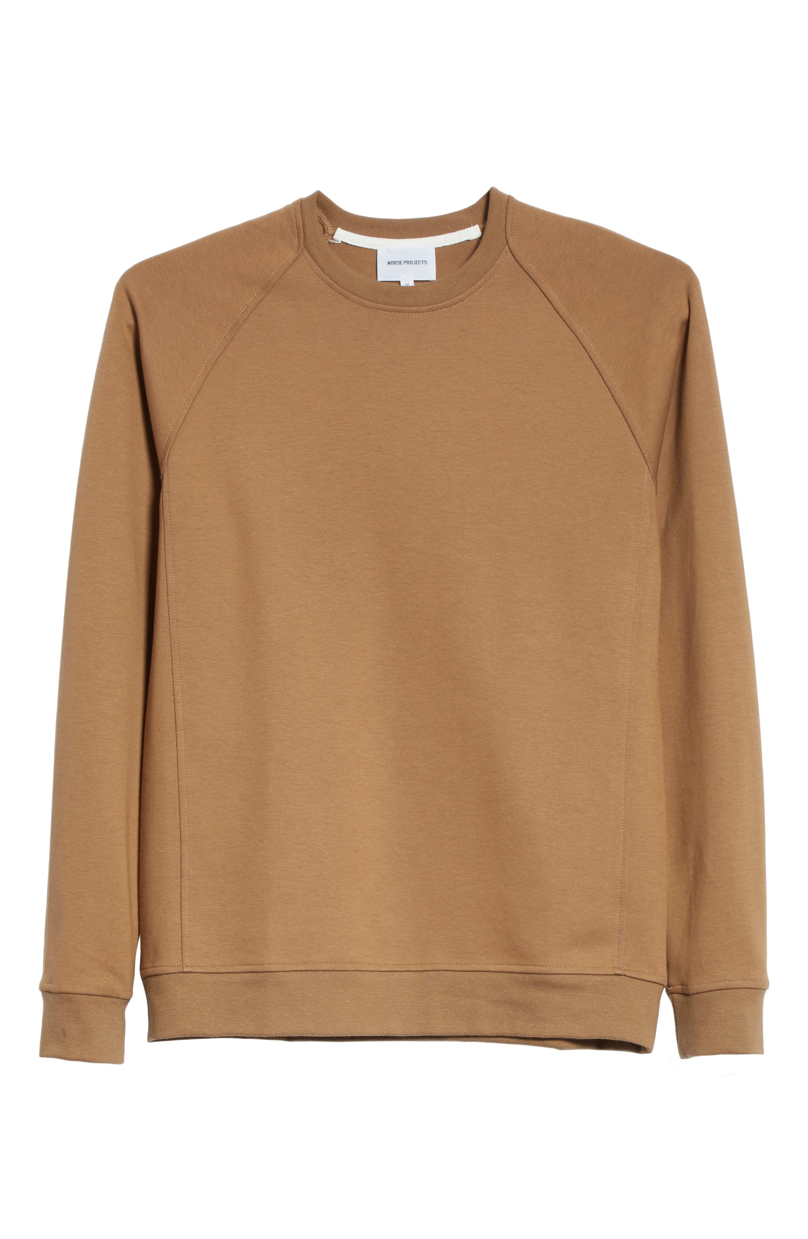 Ketel Dry Mercerized Crewneck Sweatshirt,                             Alternate thumbnail 6, color,                             Light Sand