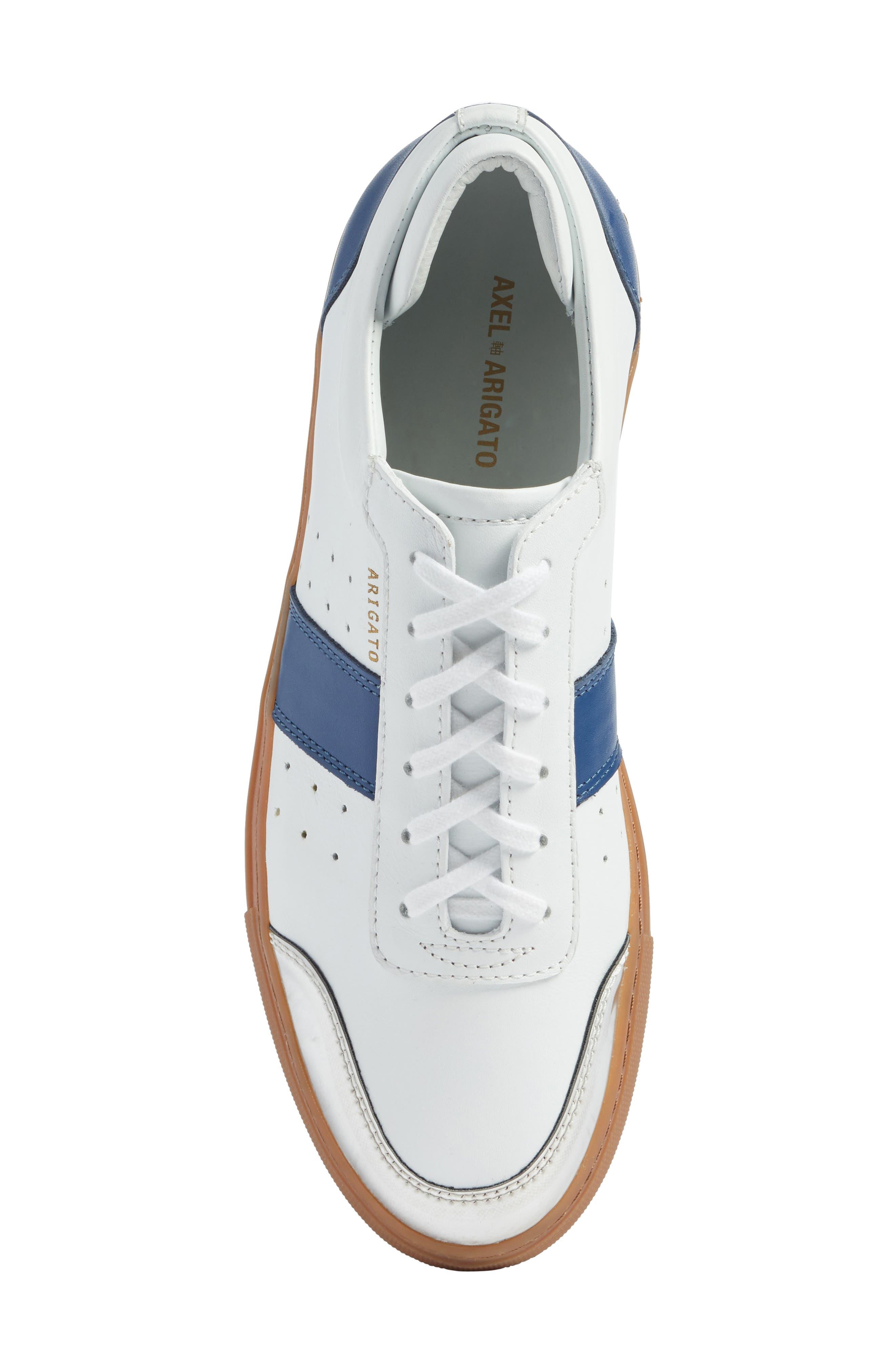 Dunk Sneaker,                             Alternate thumbnail 5, color,                             White/ Navy