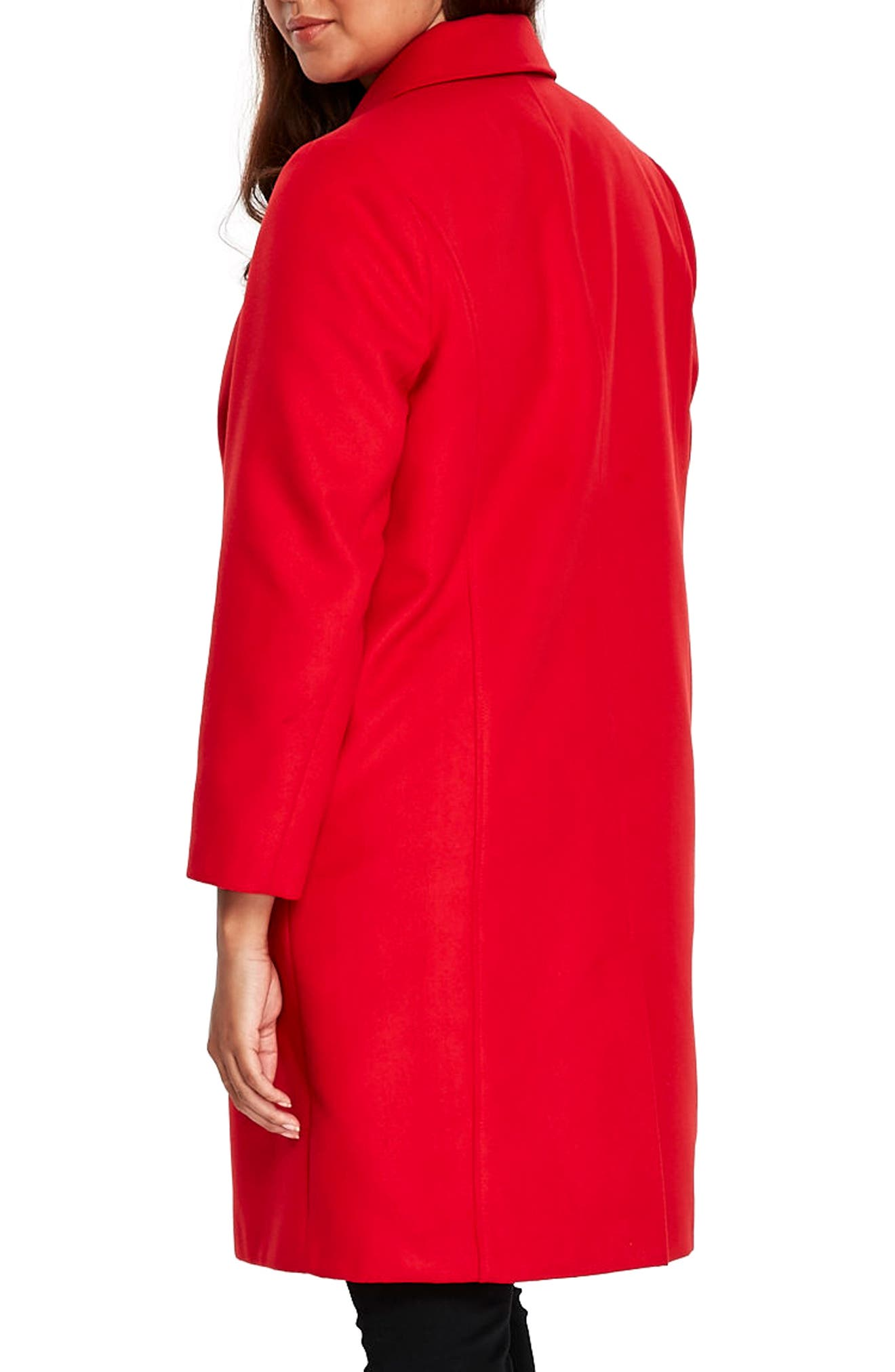 Longline Coat,                             Alternate thumbnail 2, color,                             Red