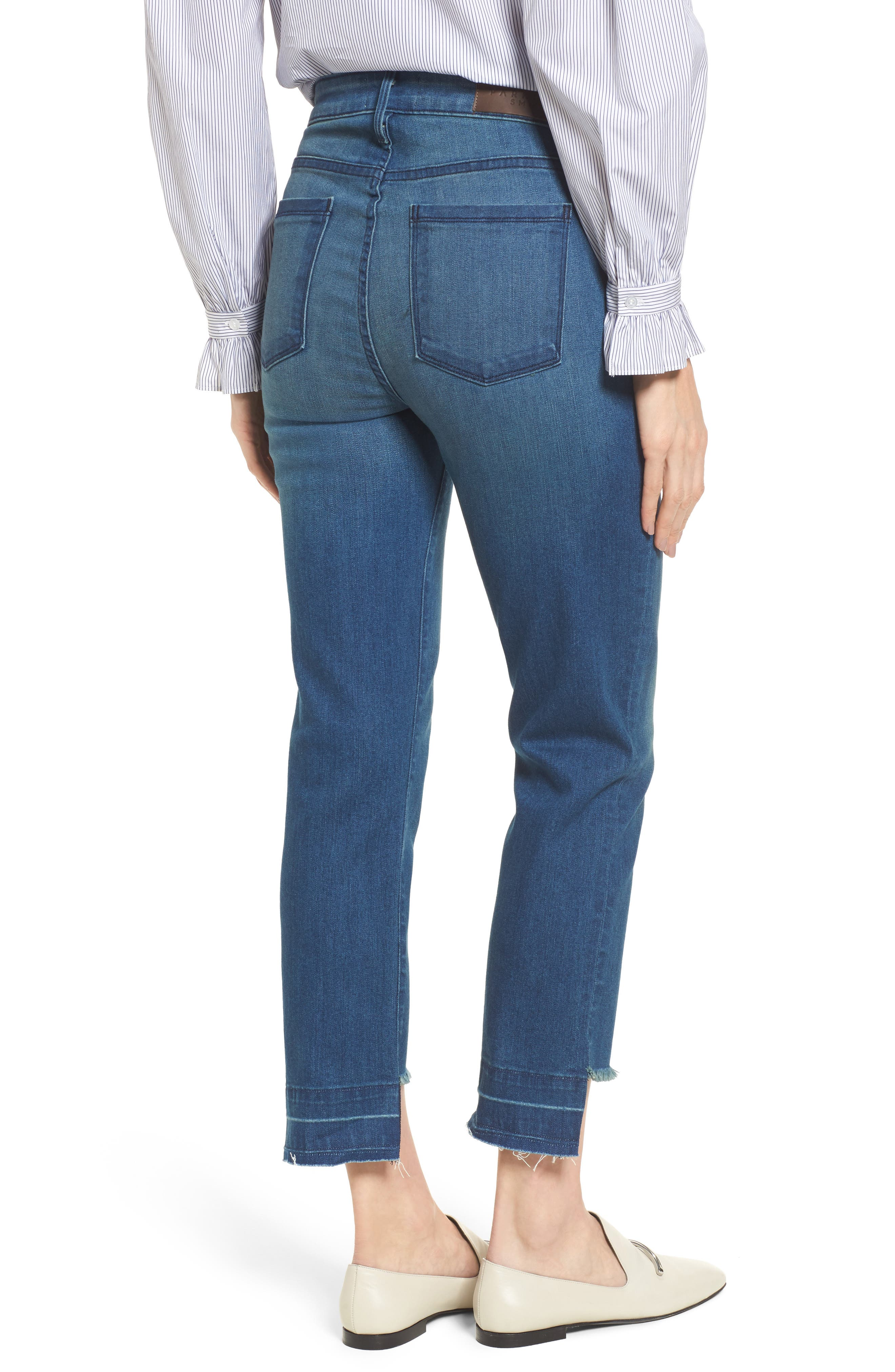 Alternate Image 2  - PARKER SMITH Pin-Up Straight Leg Crop Jeans (Island)