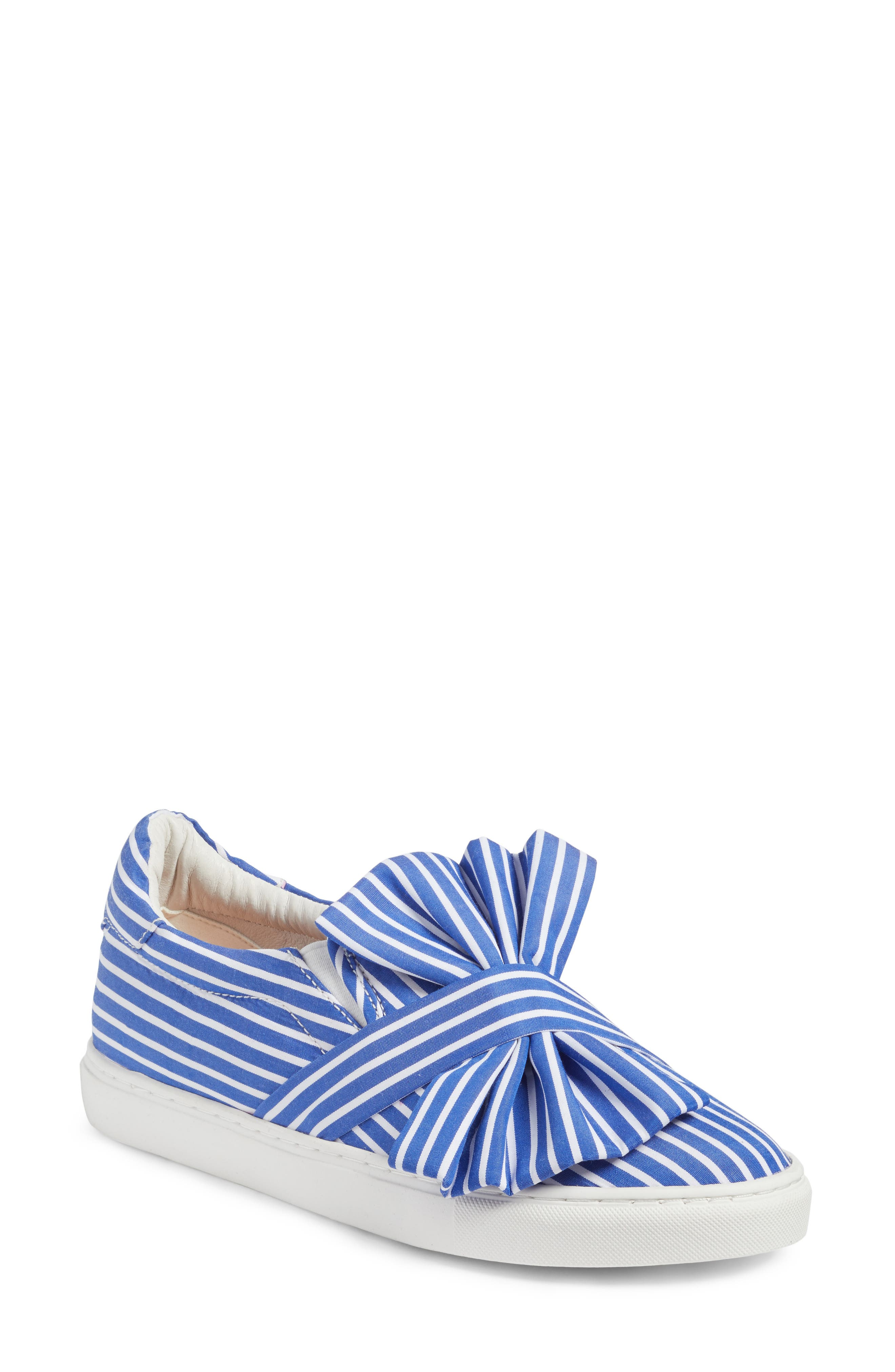 Mika Slip-On Sneaker,                         Main,                         color, Blue Shirting Fabric