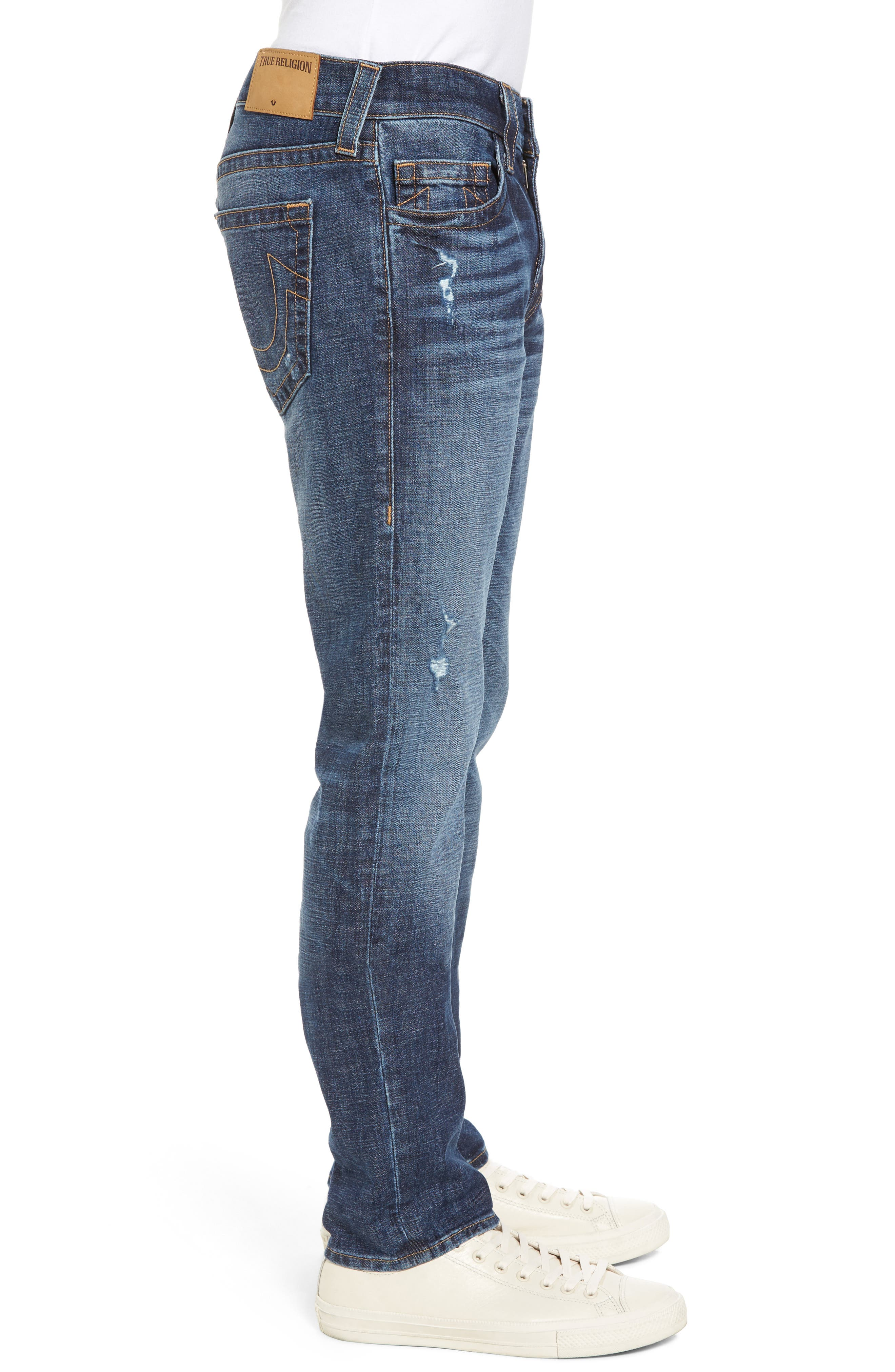 Rocco Skinny Fit Jeans,                             Alternate thumbnail 3, color,                             Dark Wash