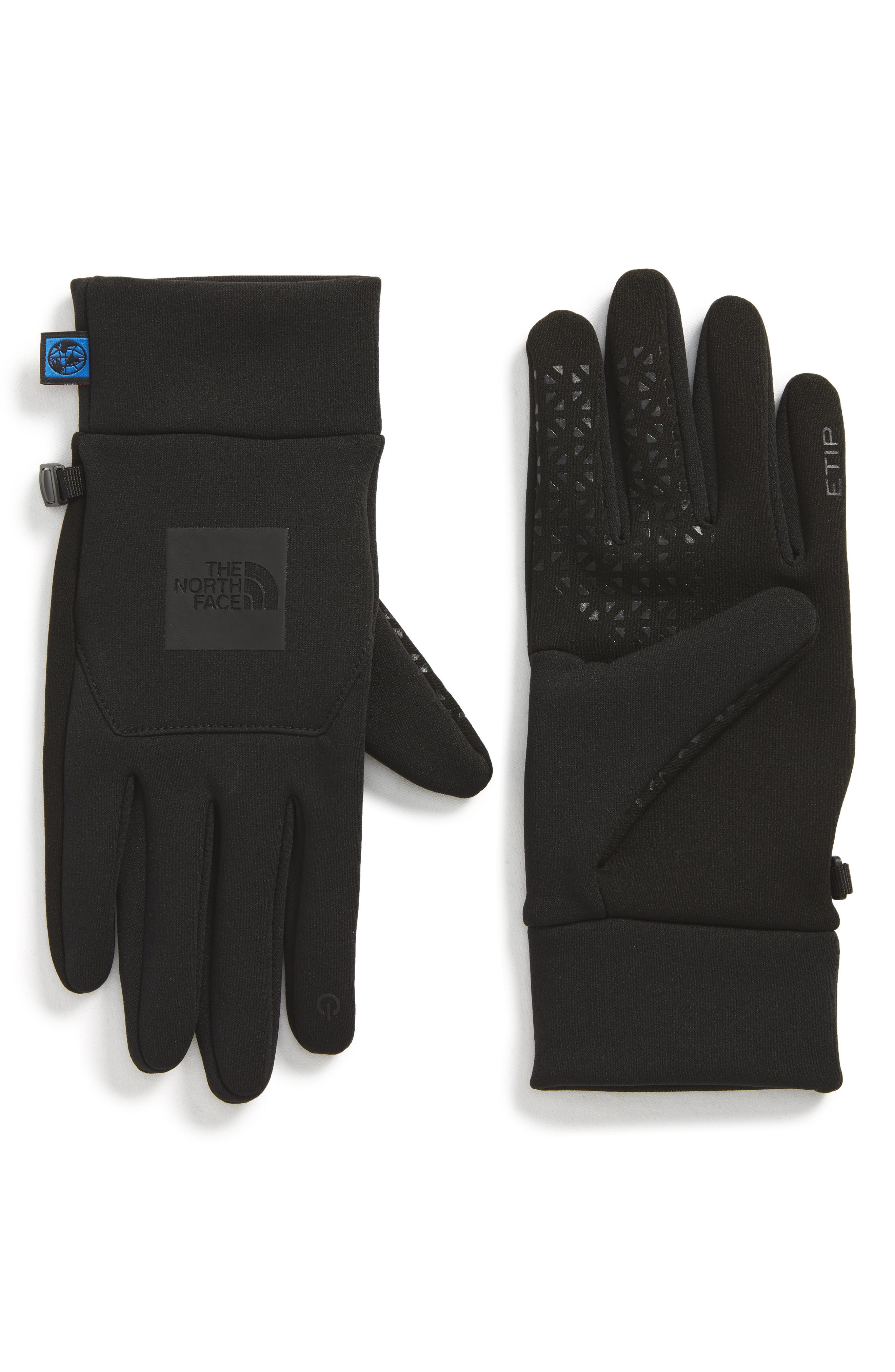 International Collection E-Tip Gloves,                         Main,                         color, Tnf Black