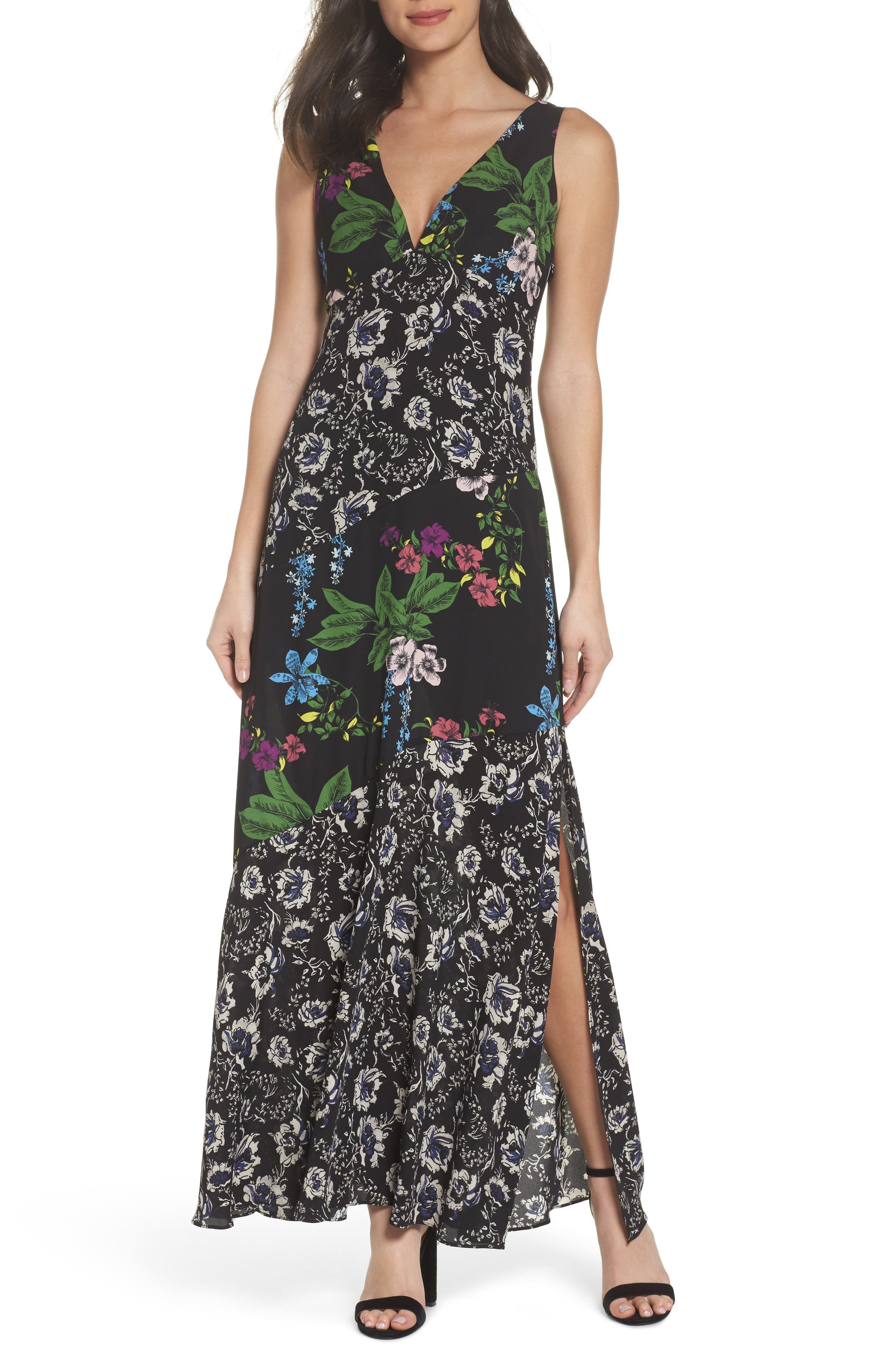 Floral Maxi Dress,                         Main,                         color, Multi Botanical