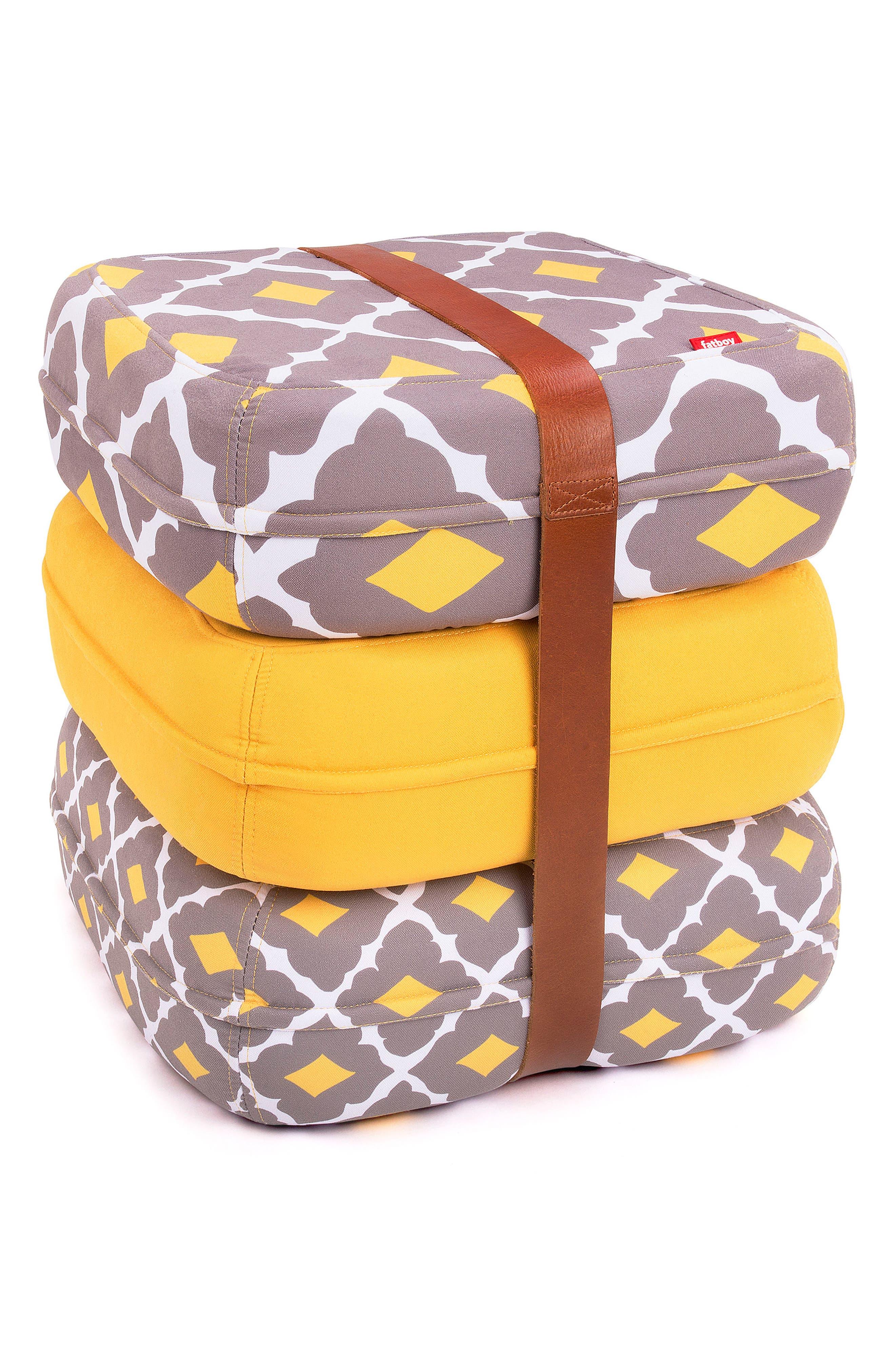 Baboesjka Set of 3 Pillows,                         Main,                         color, Yellow