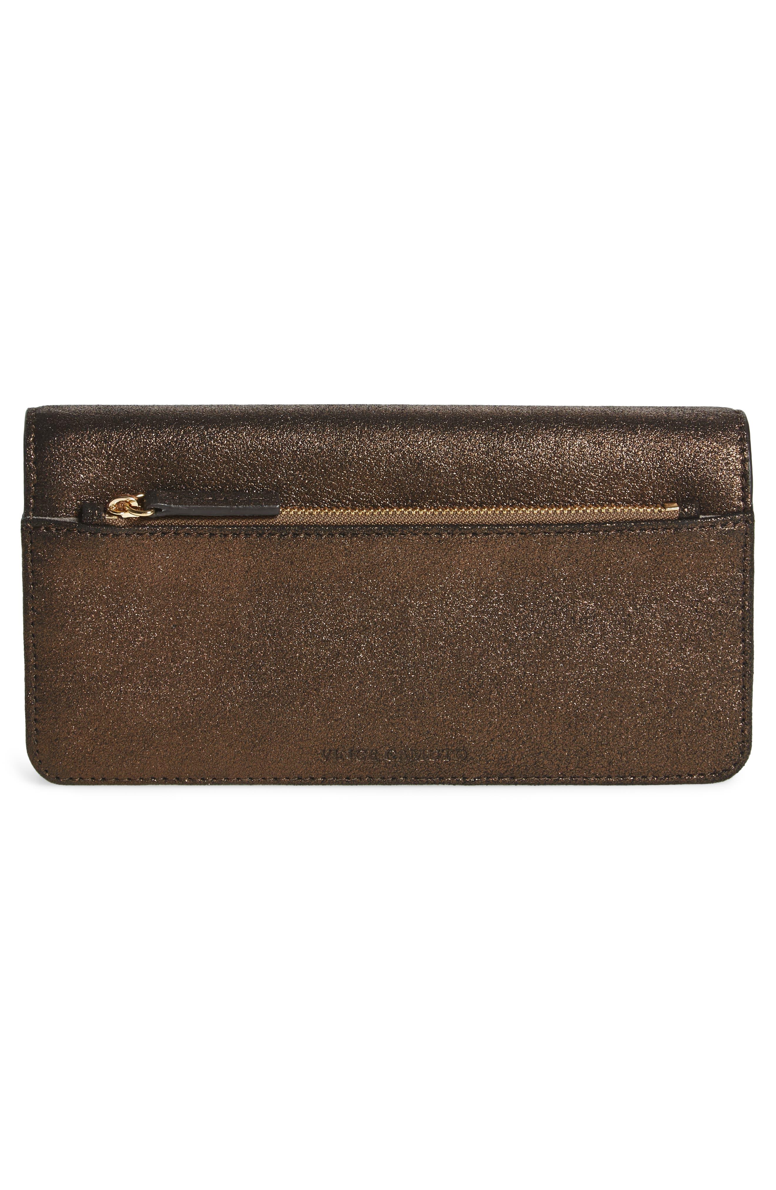 Fit Studded Leather Wallet,                             Alternate thumbnail 4, color,                             Antique Bronze