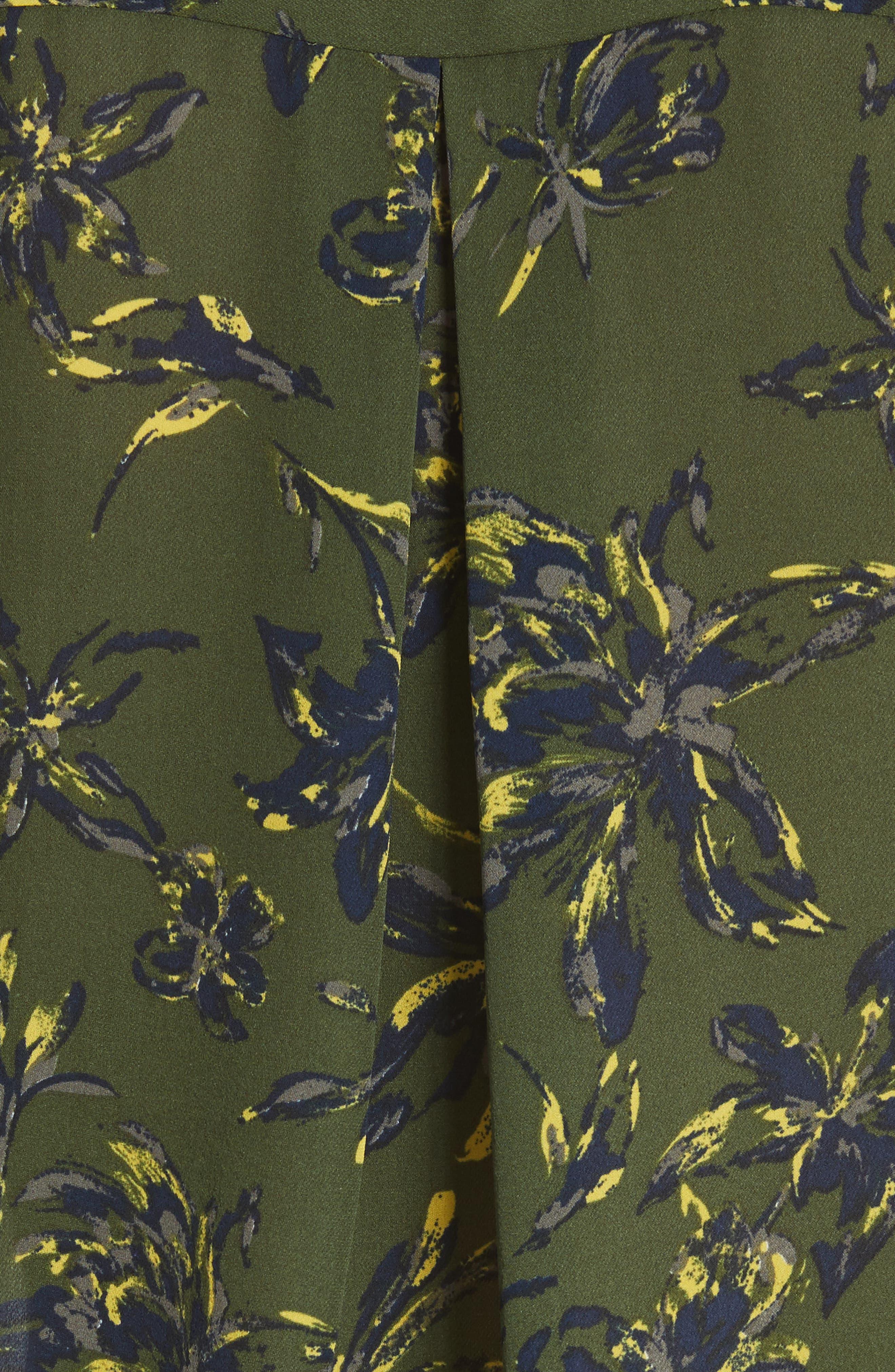 Nina Print Silk Blouse,                             Alternate thumbnail 5, color,                             Rifle Multi