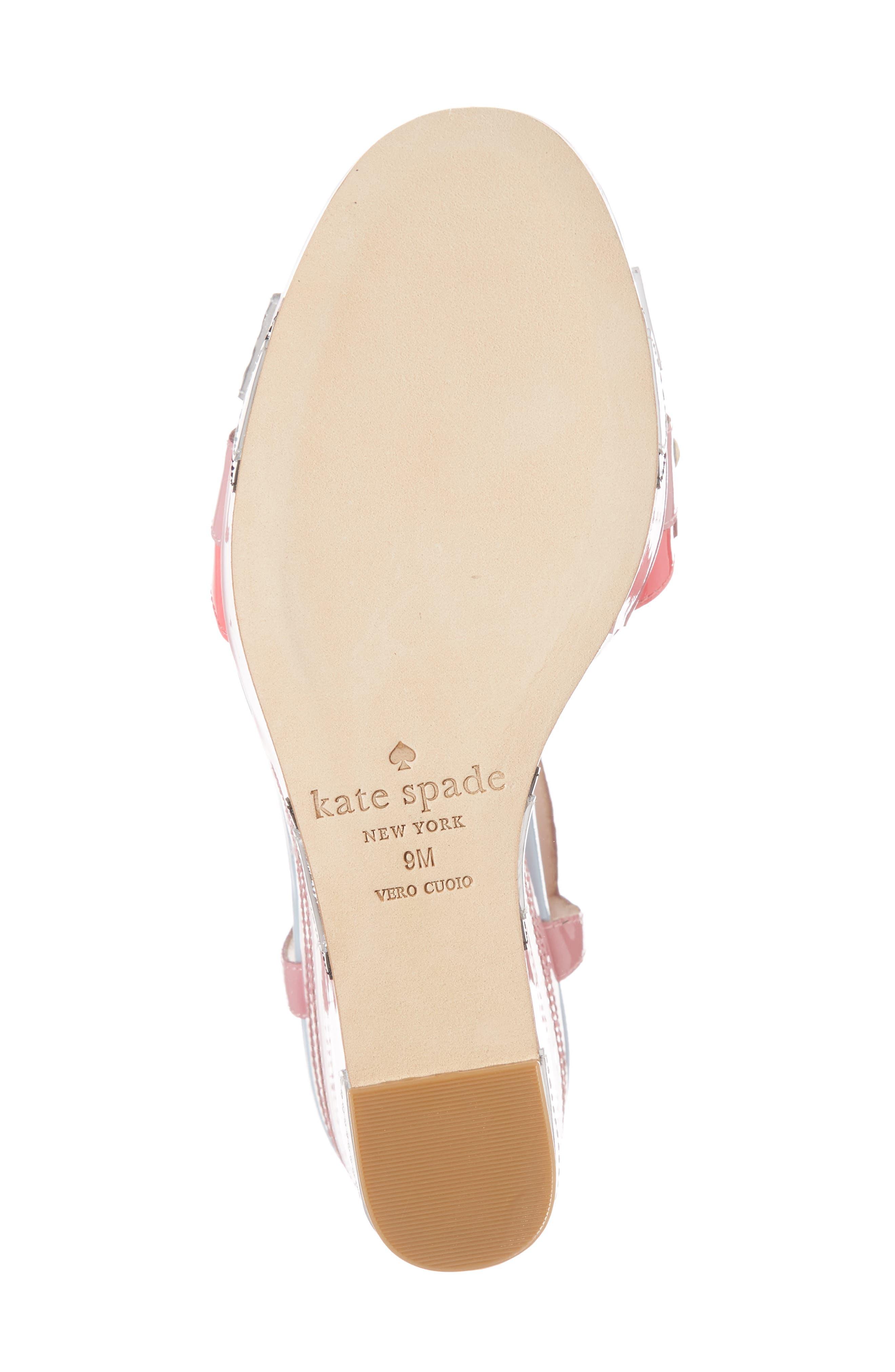 deanna wedge t-strap sandal,                             Alternate thumbnail 6, color,                             Petunia Patent