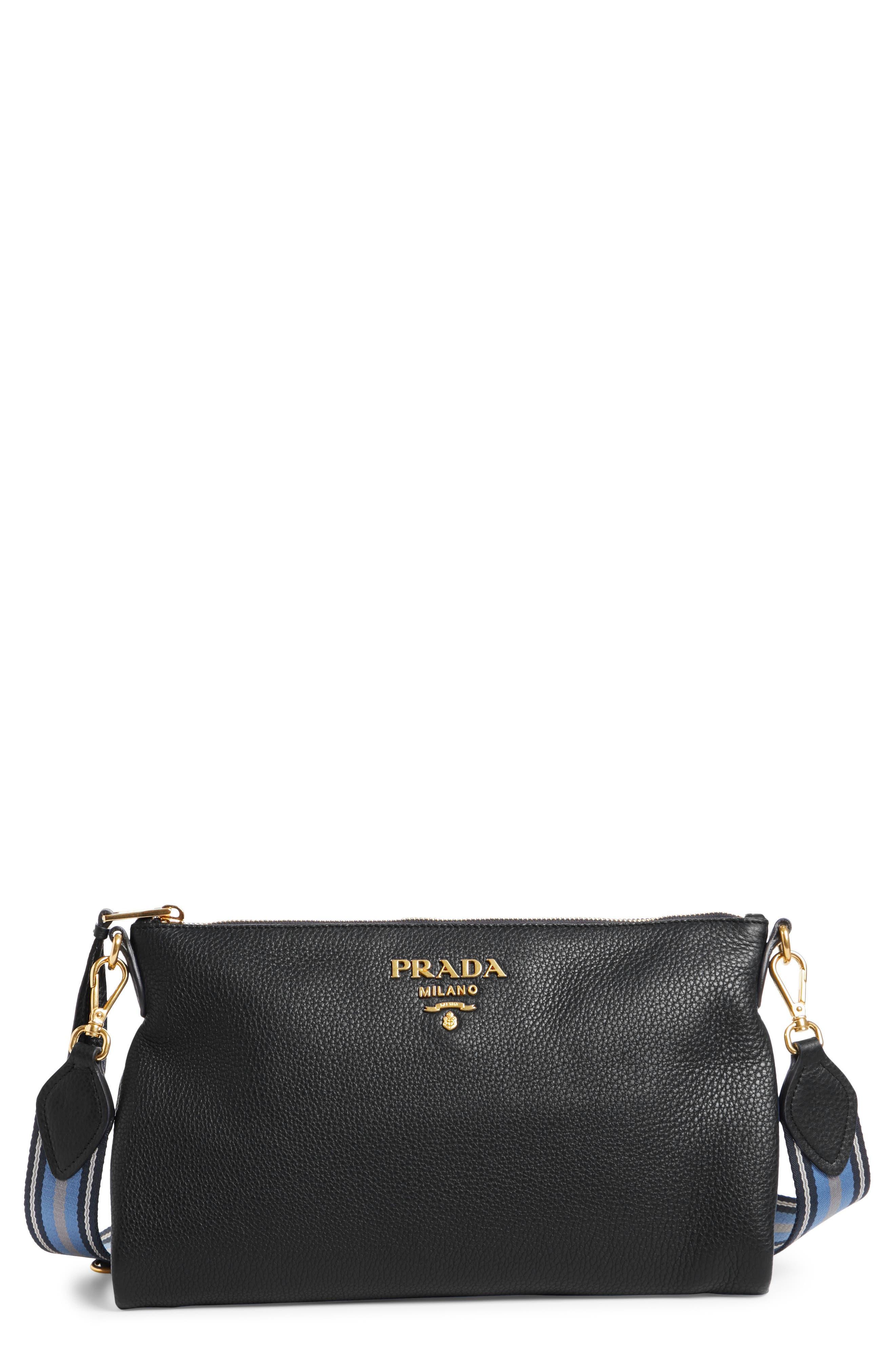 Prada Vitello Daino Leather Crossbody Bag