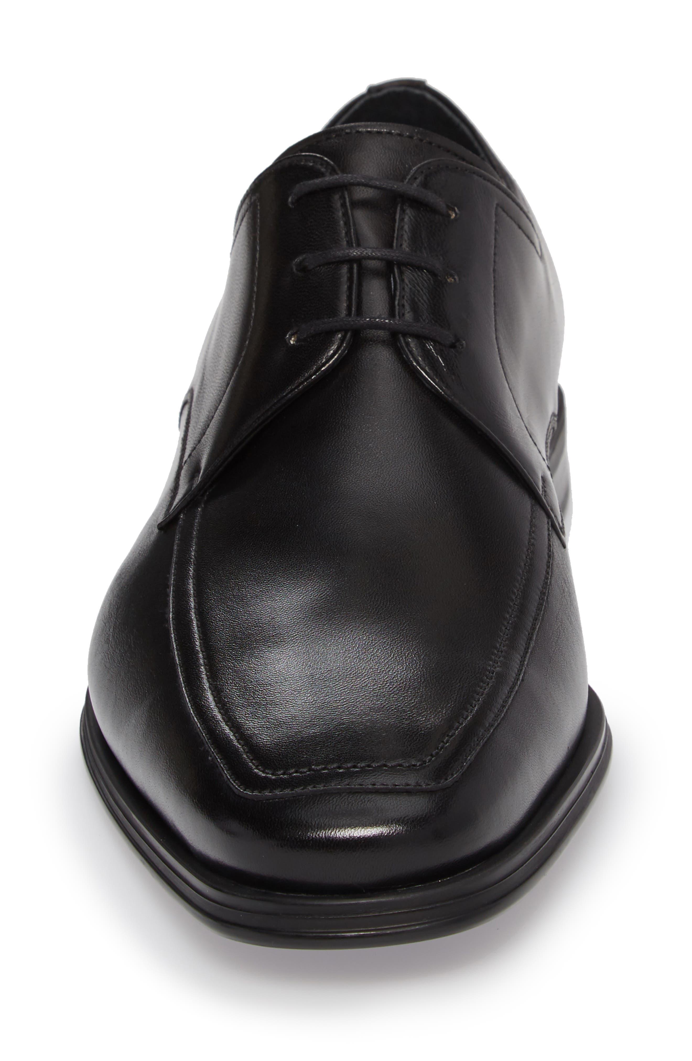 Eduardo Apron Toe Derby,                             Alternate thumbnail 4, color,                             Black