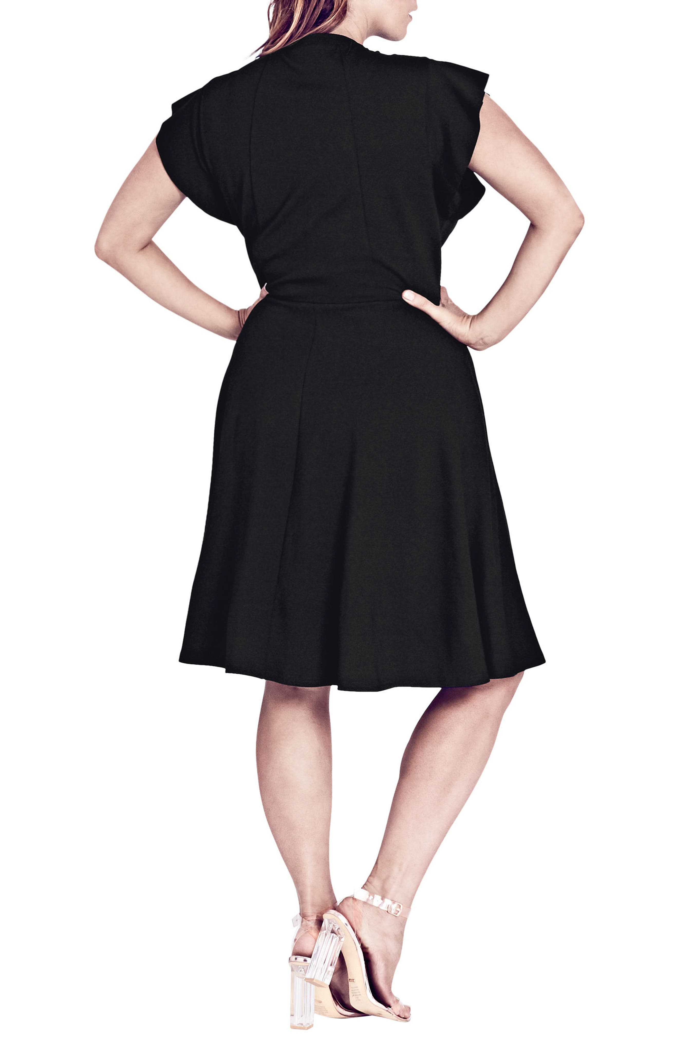 Alternate Image 2  - City Chic Lady Valerie Fit & Flare Dress (Plus Size)