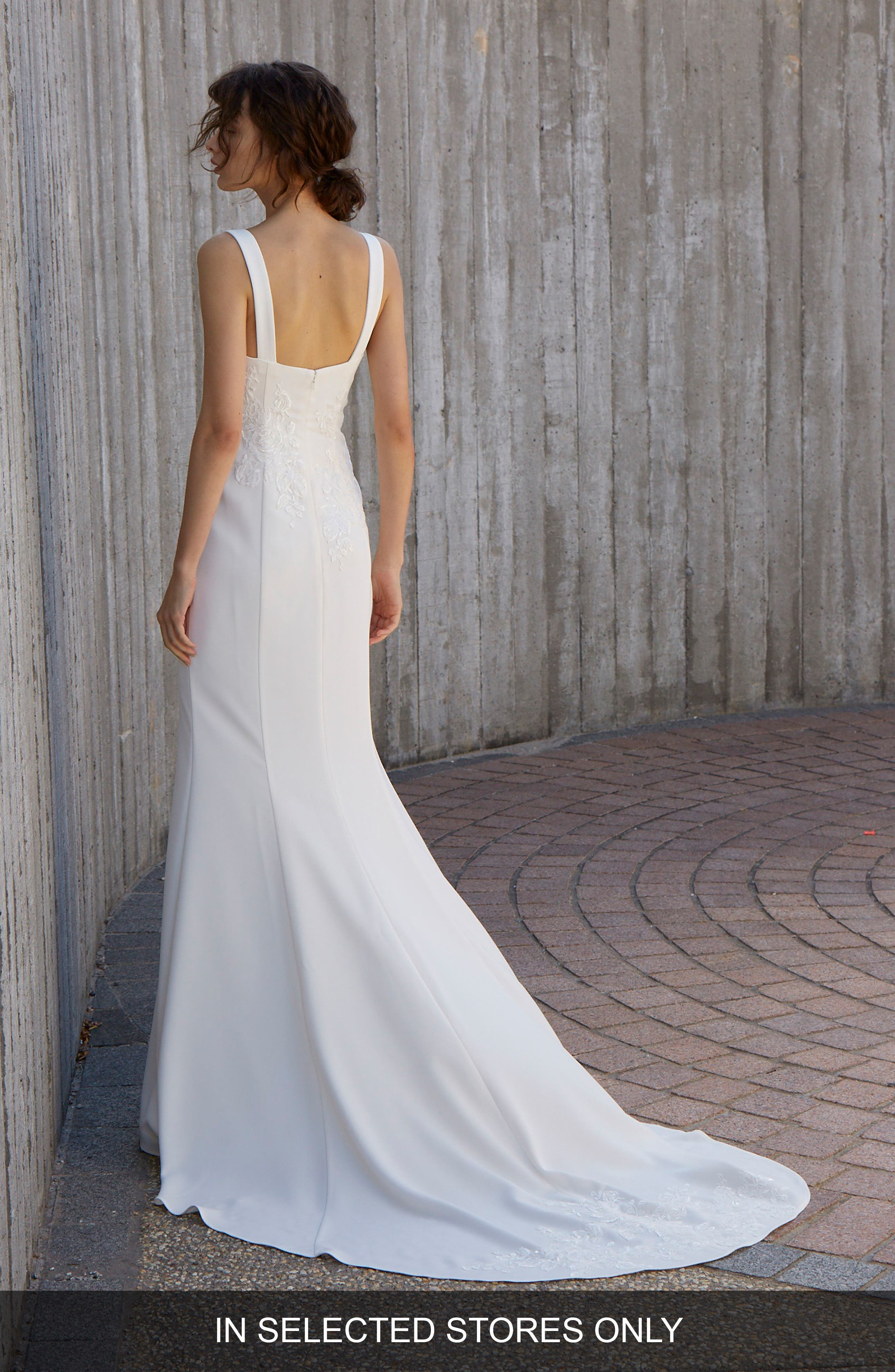 Crosby Embroidered Gown,                             Alternate thumbnail 2, color,                             Ivory