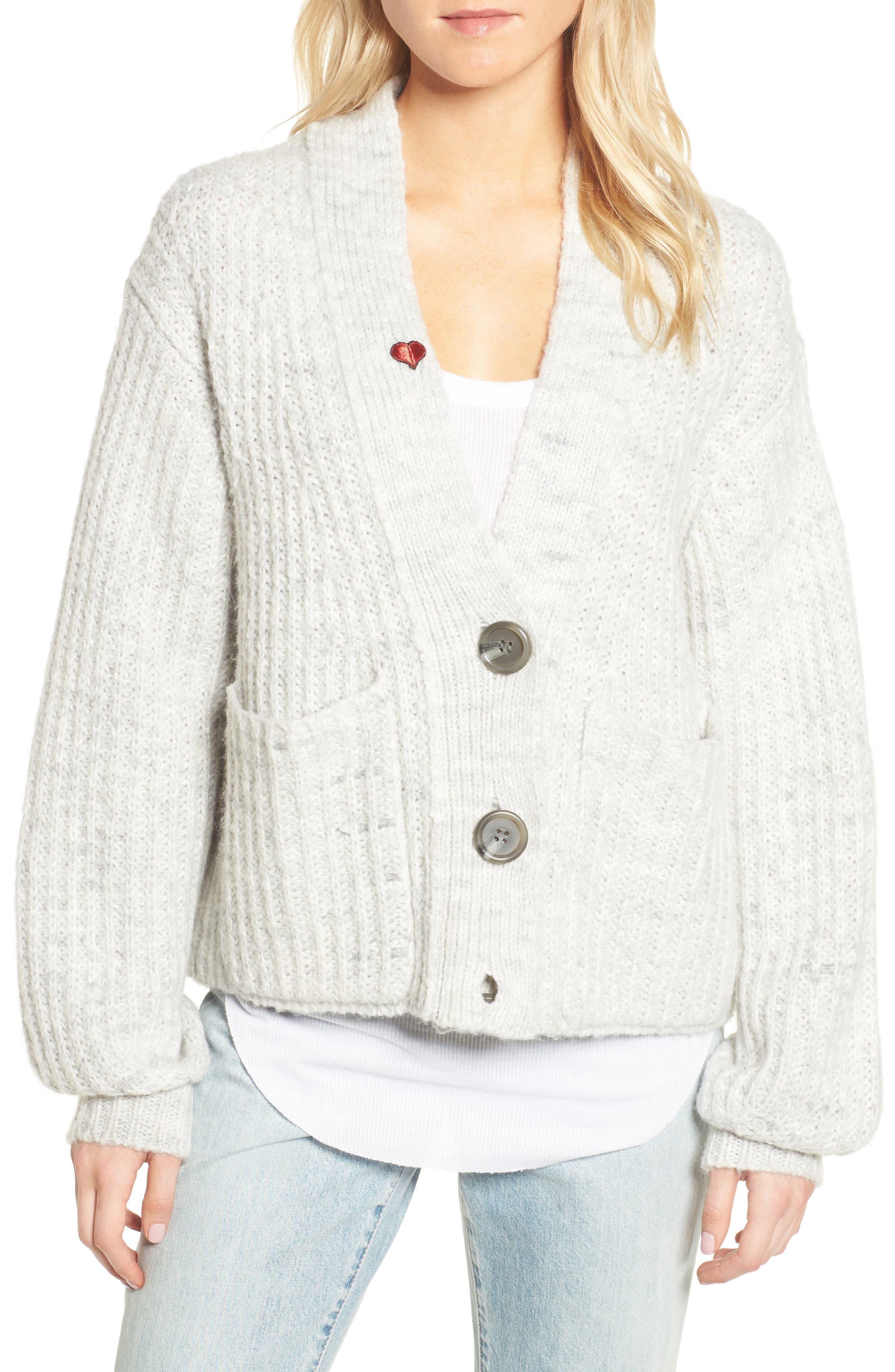 Alternate Image 1 Selected - Pam & Gela Oversize Cardigan