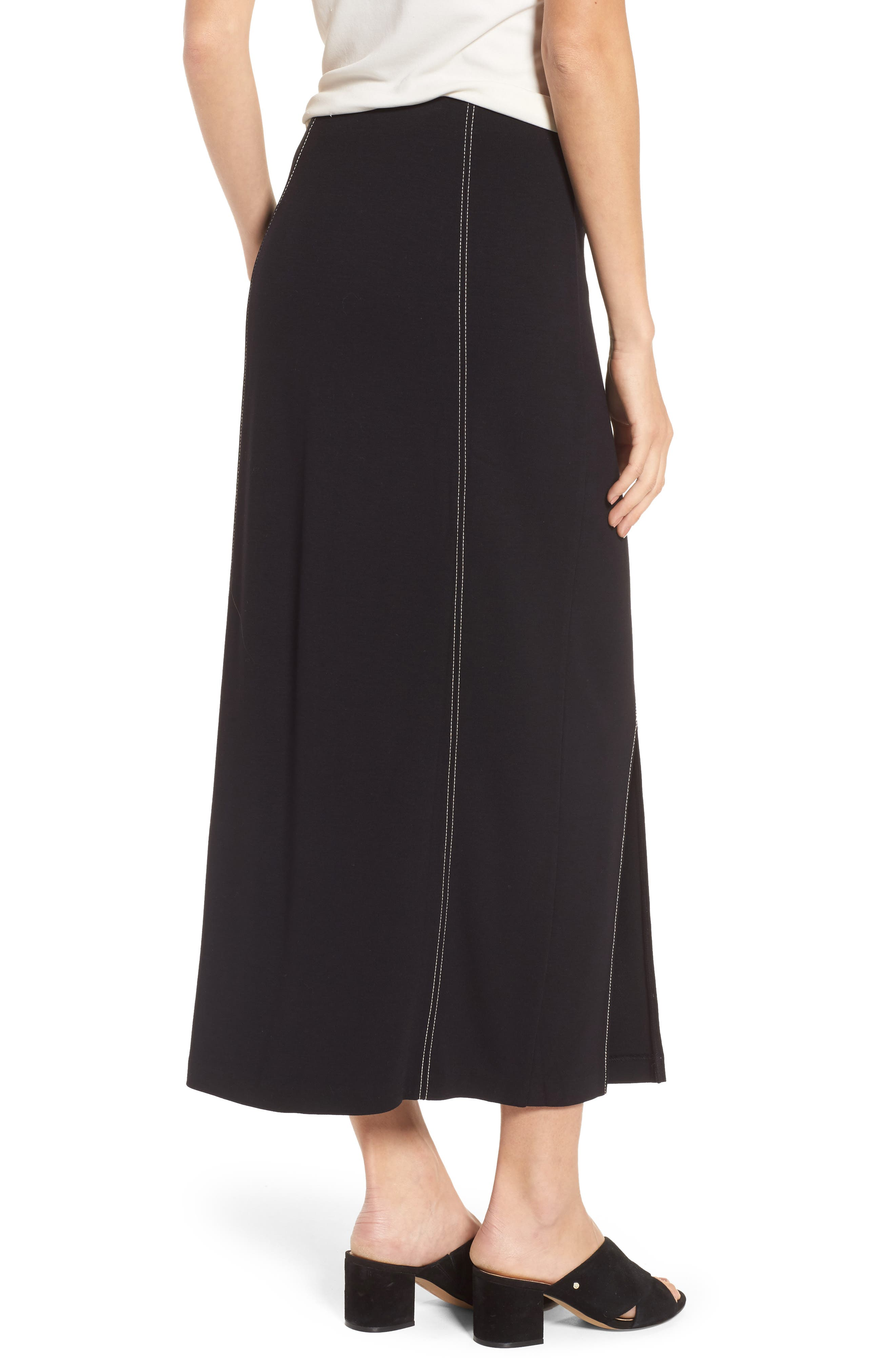 Break Out Maxi Skirt,                             Alternate thumbnail 2, color,                             Black Onyx