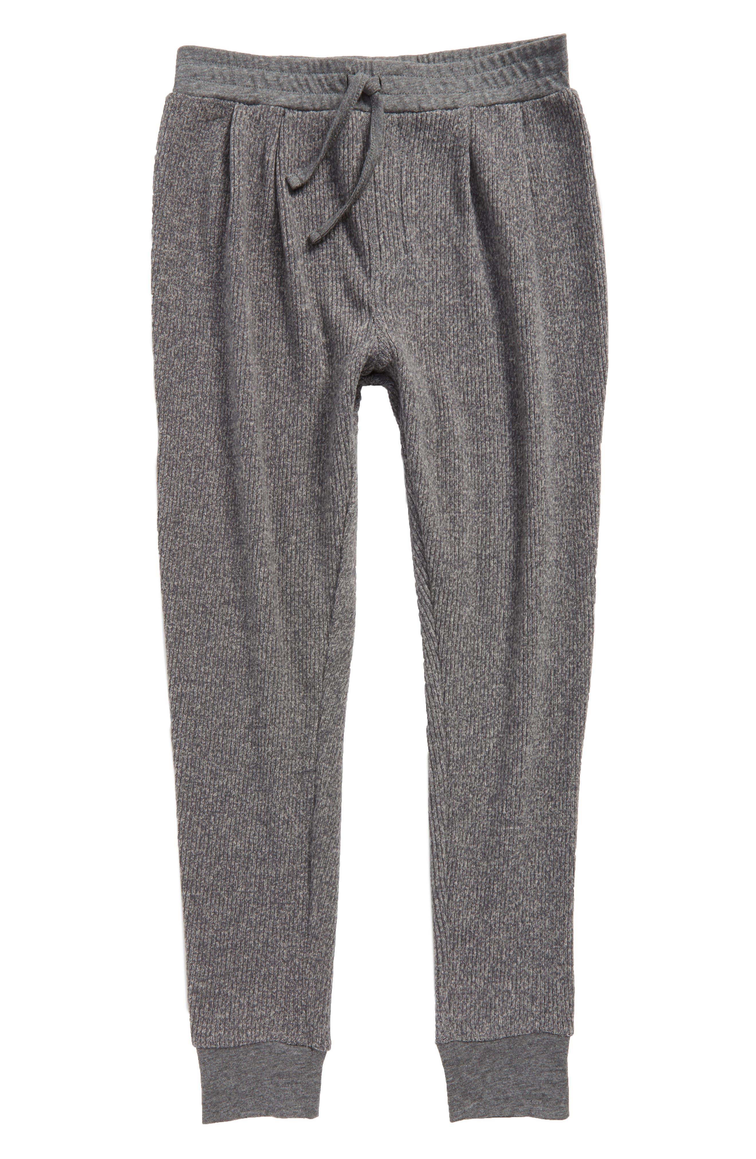 Knit Jogger Pants,                             Main thumbnail 1, color,                             Grey Charcoal Heather