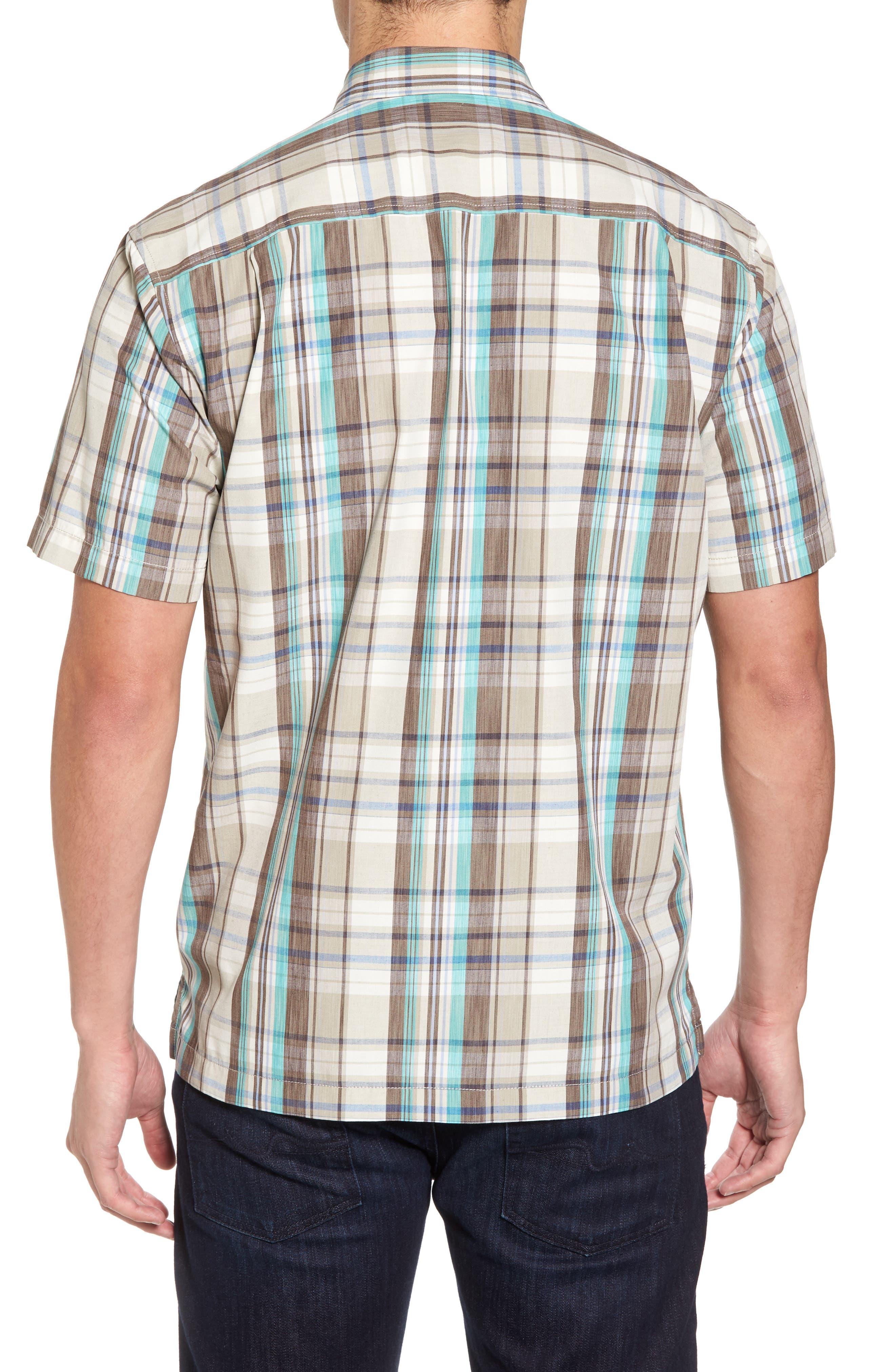 Royal Palm Plaid Sport Shirt,                             Alternate thumbnail 2, color,                             Twill