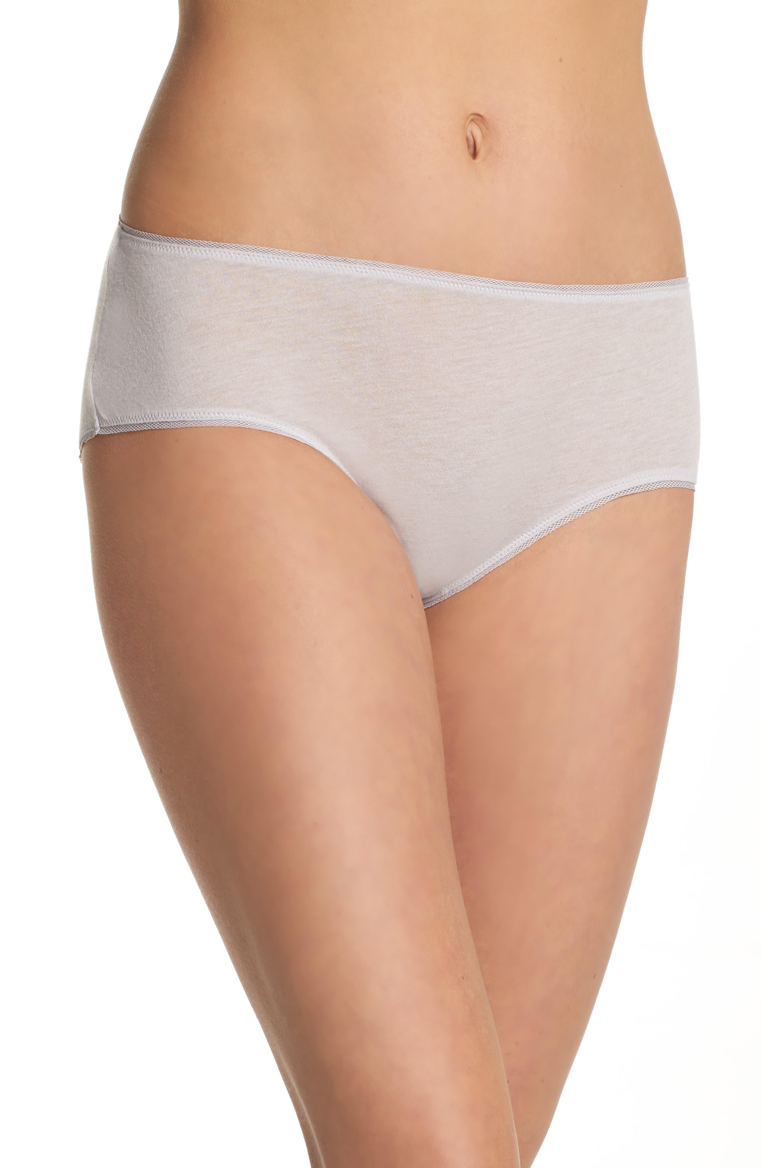 Alternate Image 1 Selected - skin Organic Pima Cotton Hipster Briefs