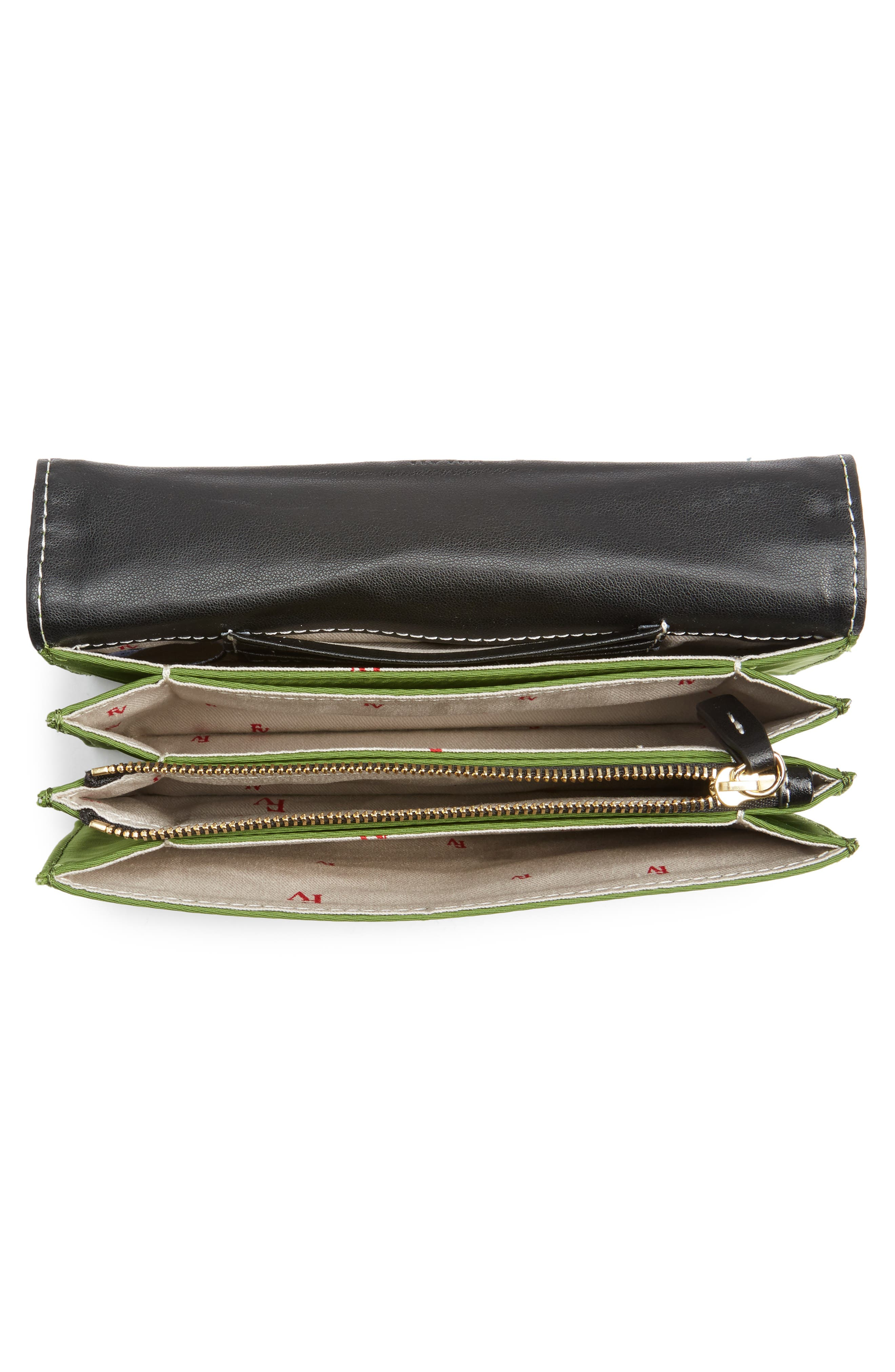 Nylon Crossbody Wallet,                             Alternate thumbnail 4, color,                             Grass