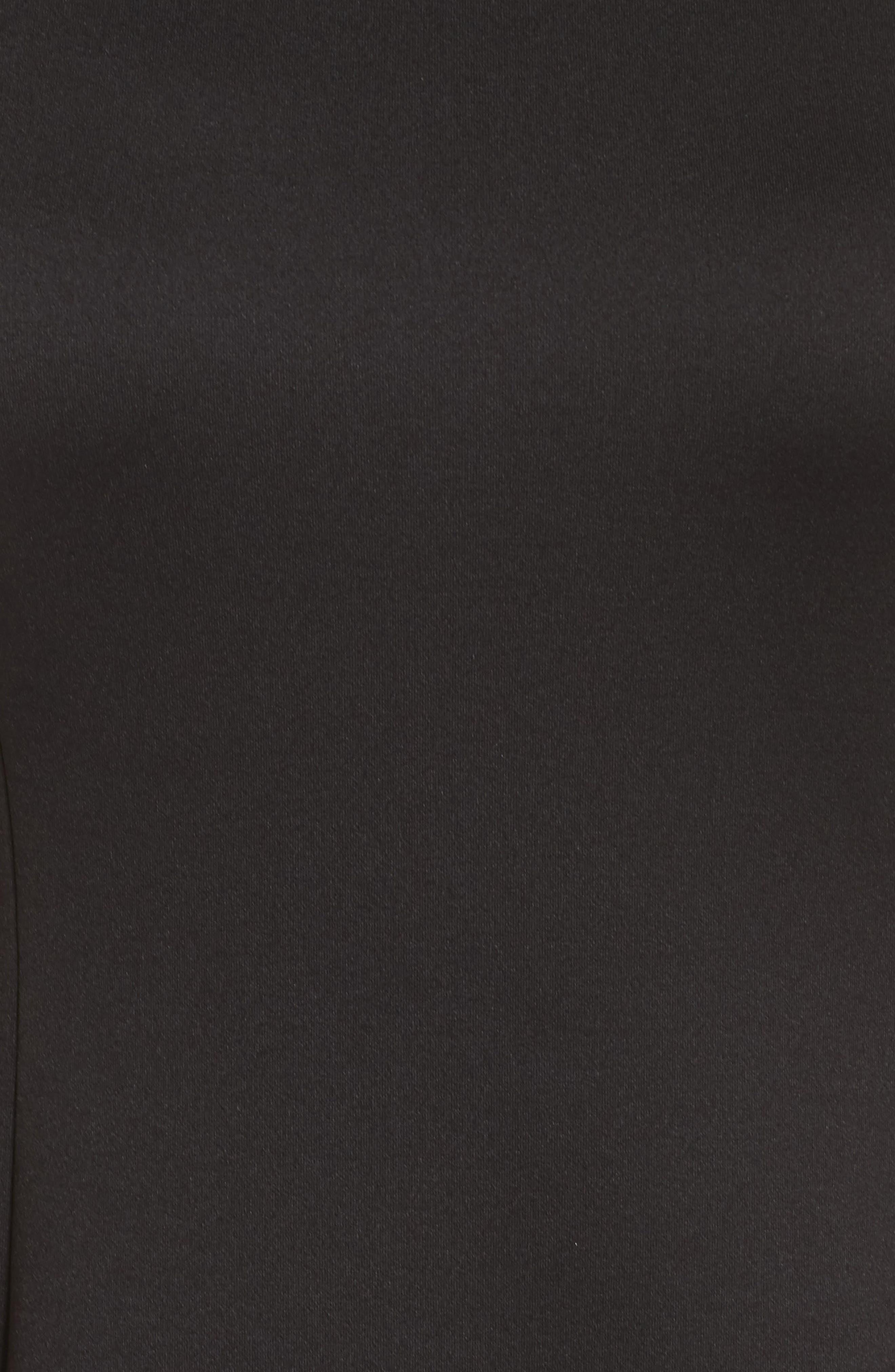 Midi Bell Dress,                             Alternate thumbnail 5, color,                             Black