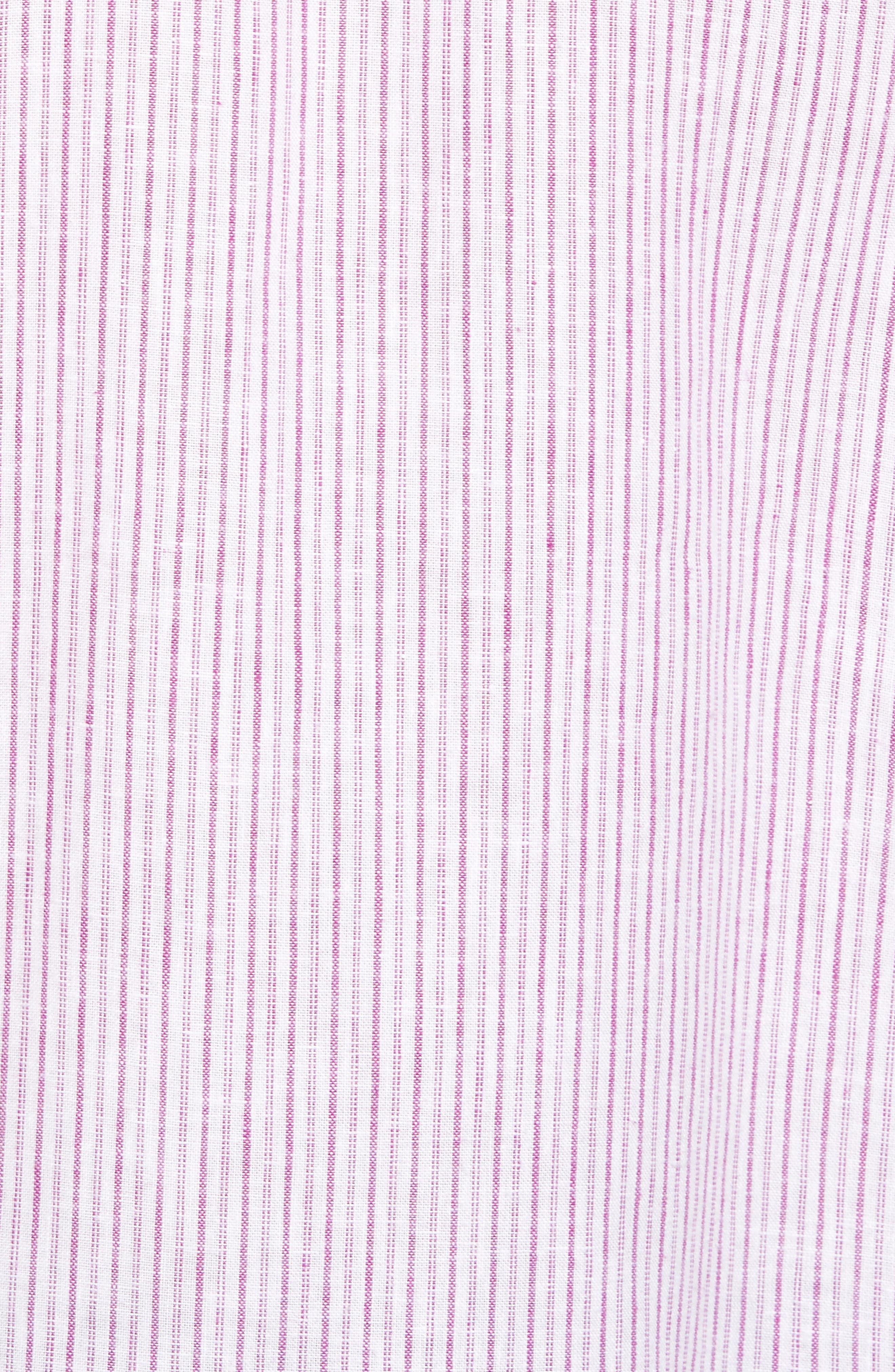 Alternate Image 5  - Tommy Bahama Bungalow Stripe Regular Fit Linen Blend Sport Shirt