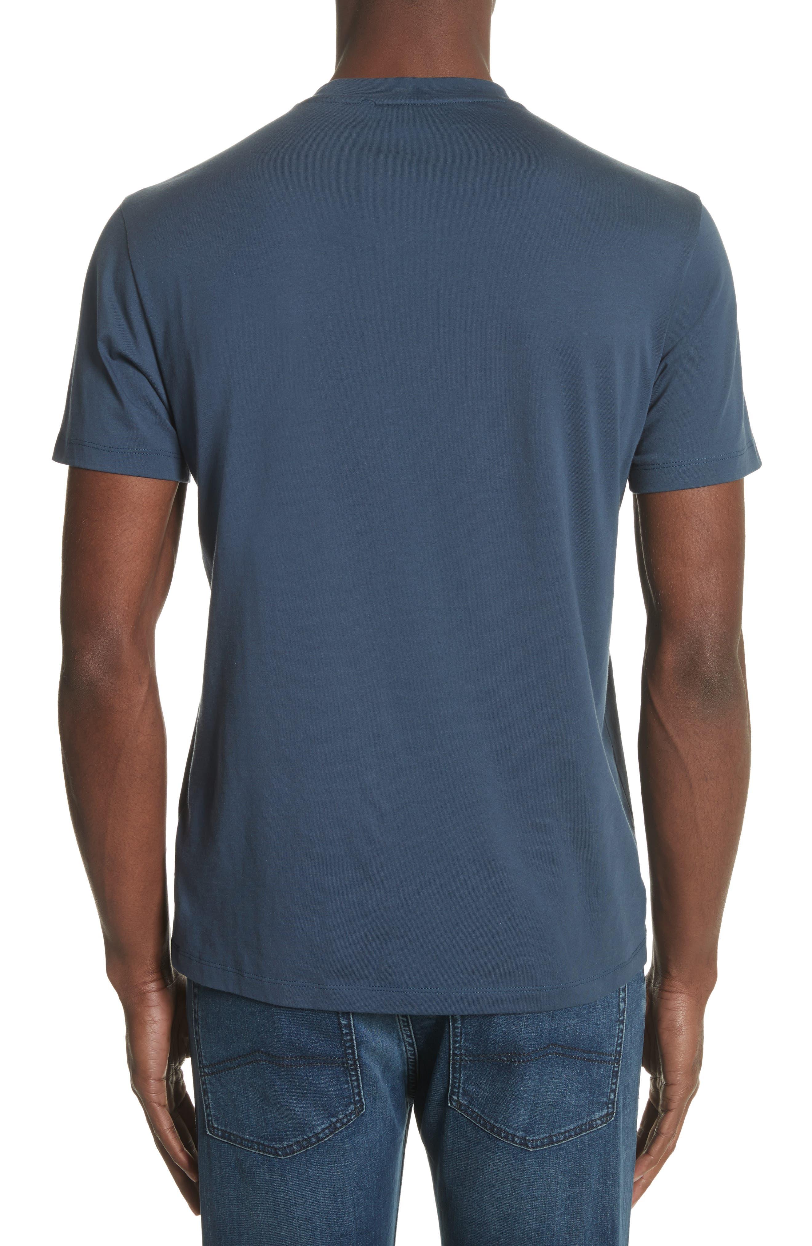 Colorblock Crewneck T-Shirt,                             Alternate thumbnail 2, color,                             Bluette