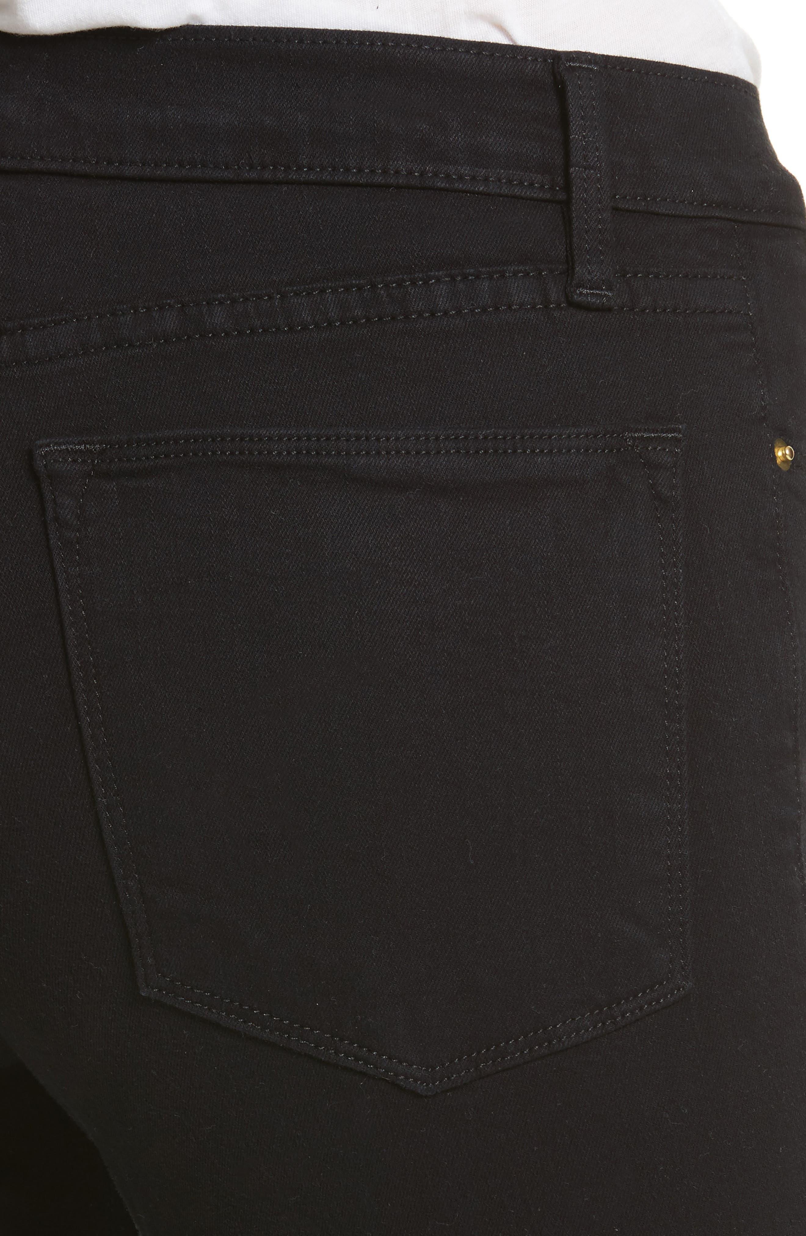 Le Color High Waist Skinny Jeans,                             Alternate thumbnail 4, color,                             Film Noir