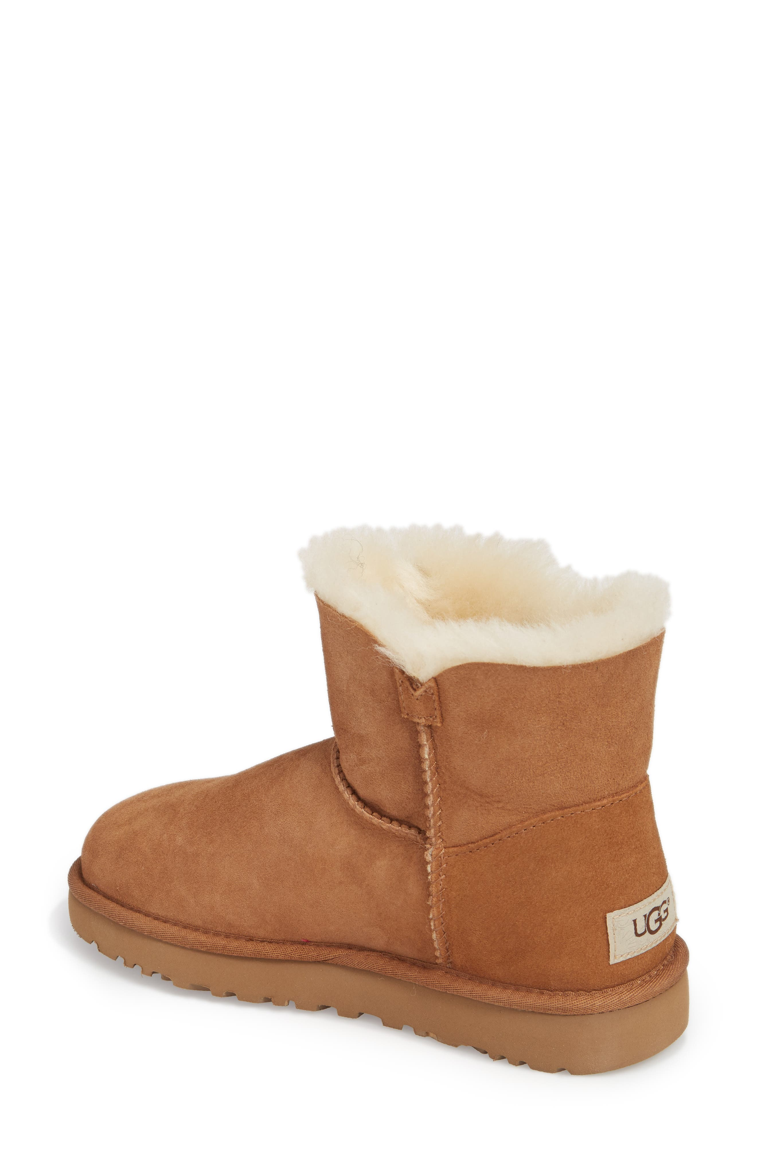 Alternate Image 2  - UGG® Mini Bailey Button Poppy Genuine Shearling Lined Boot (Women)