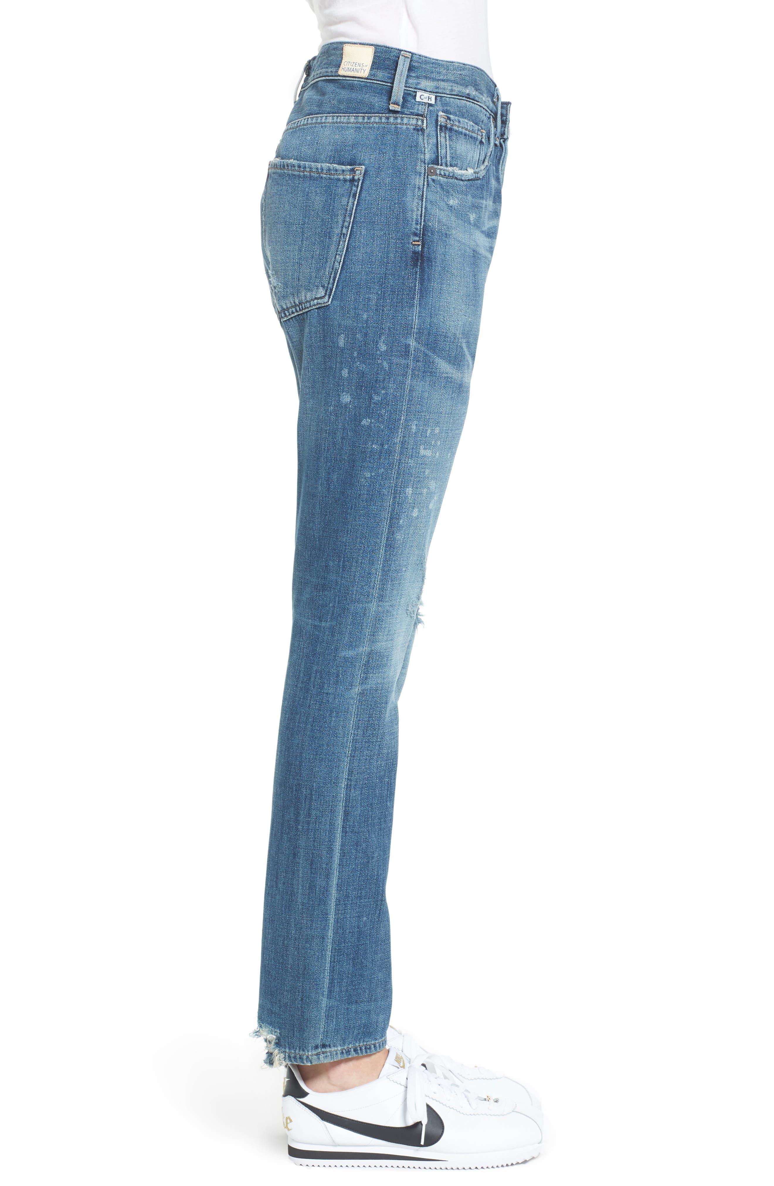 Corey Slouchy Slim Jeans,                             Alternate thumbnail 3, color,                             Manteca