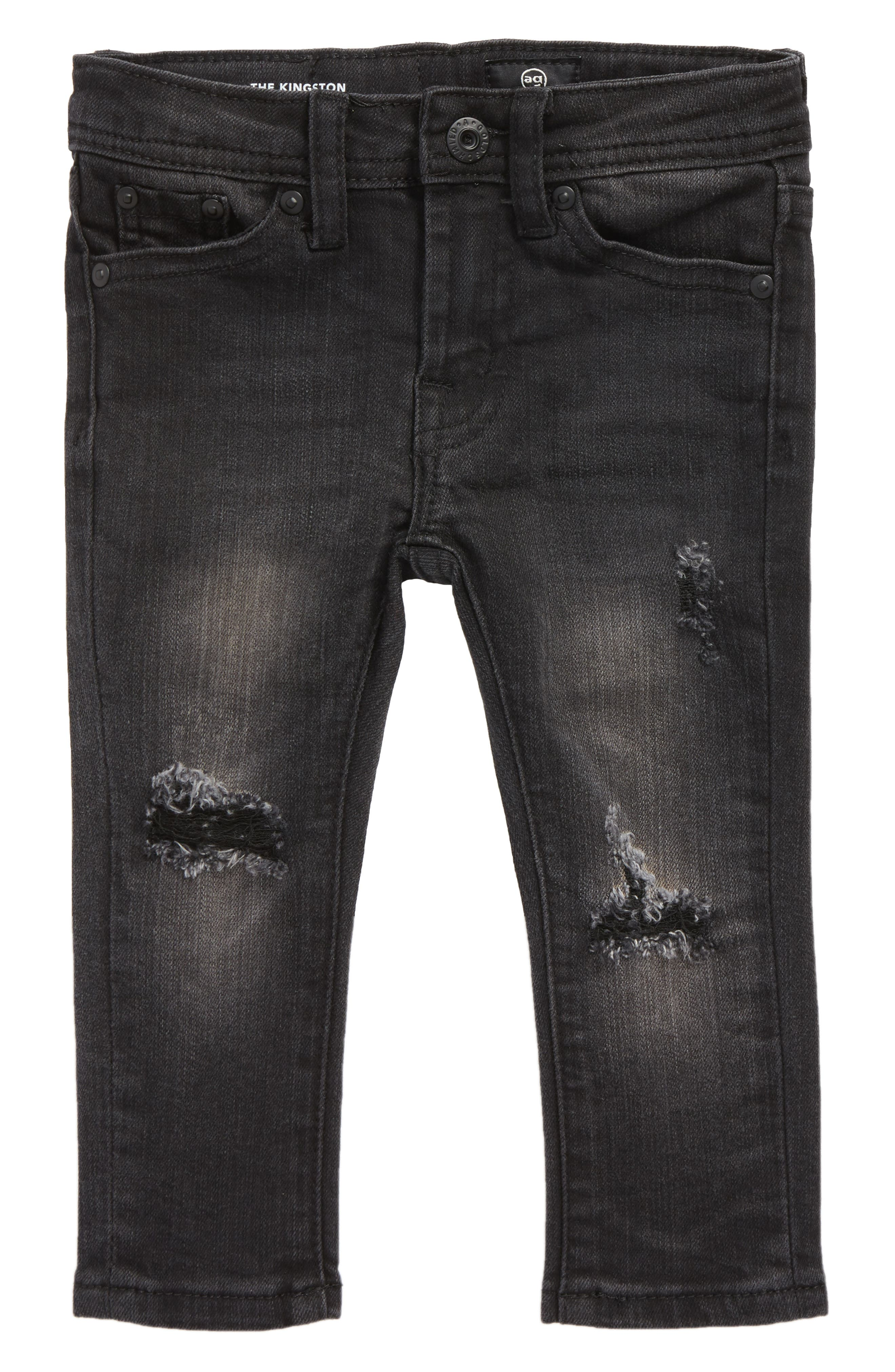 The Kingston Slim Jeans,                         Main,                         color, Black Rock Wash