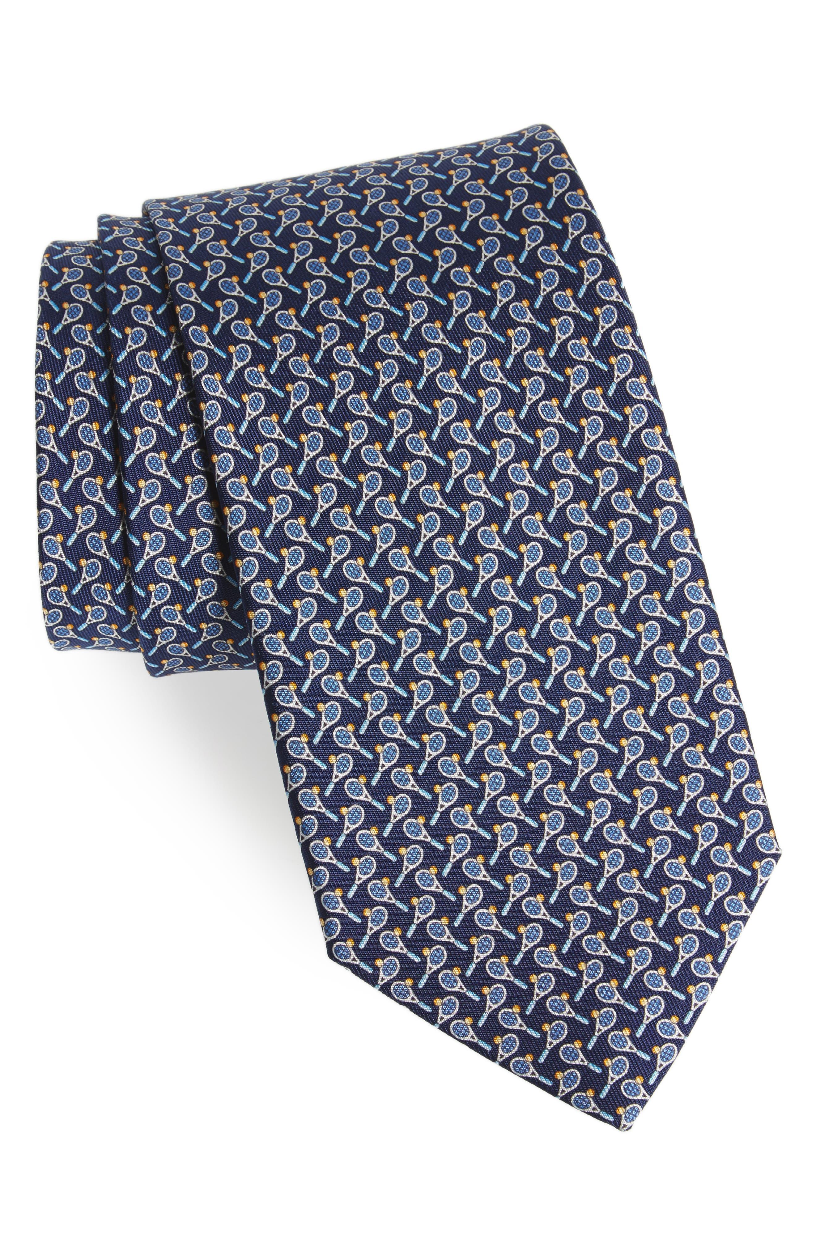 Salvatore Ferragamo Emma Print Silk Tie