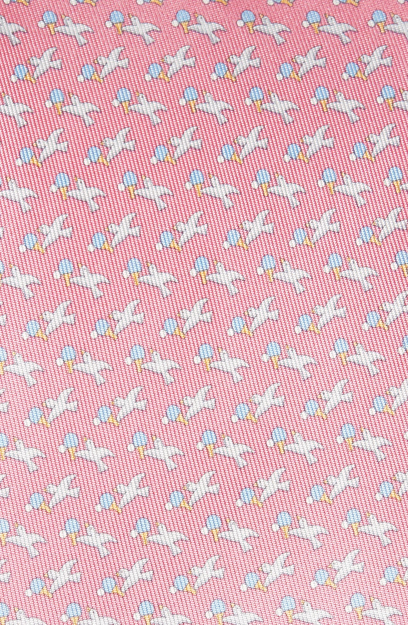 Eloise Print Silk Tie,                             Alternate thumbnail 2, color,                             Pink