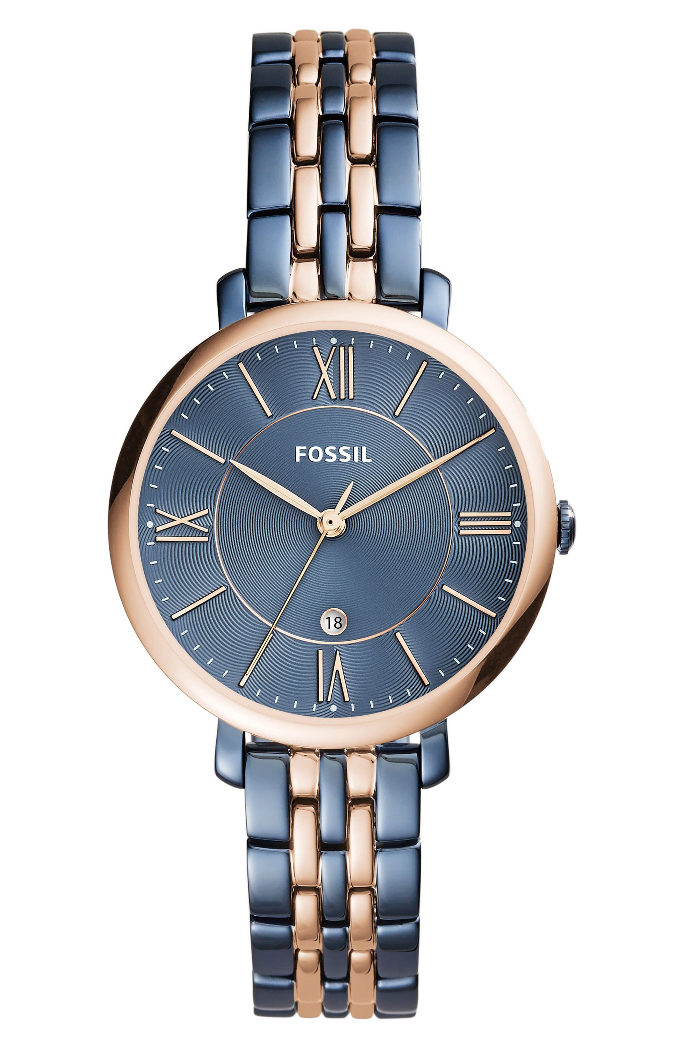 Alternate Image 1 Selected - Fossil Jacqueline Bracelet Watch, 36mm