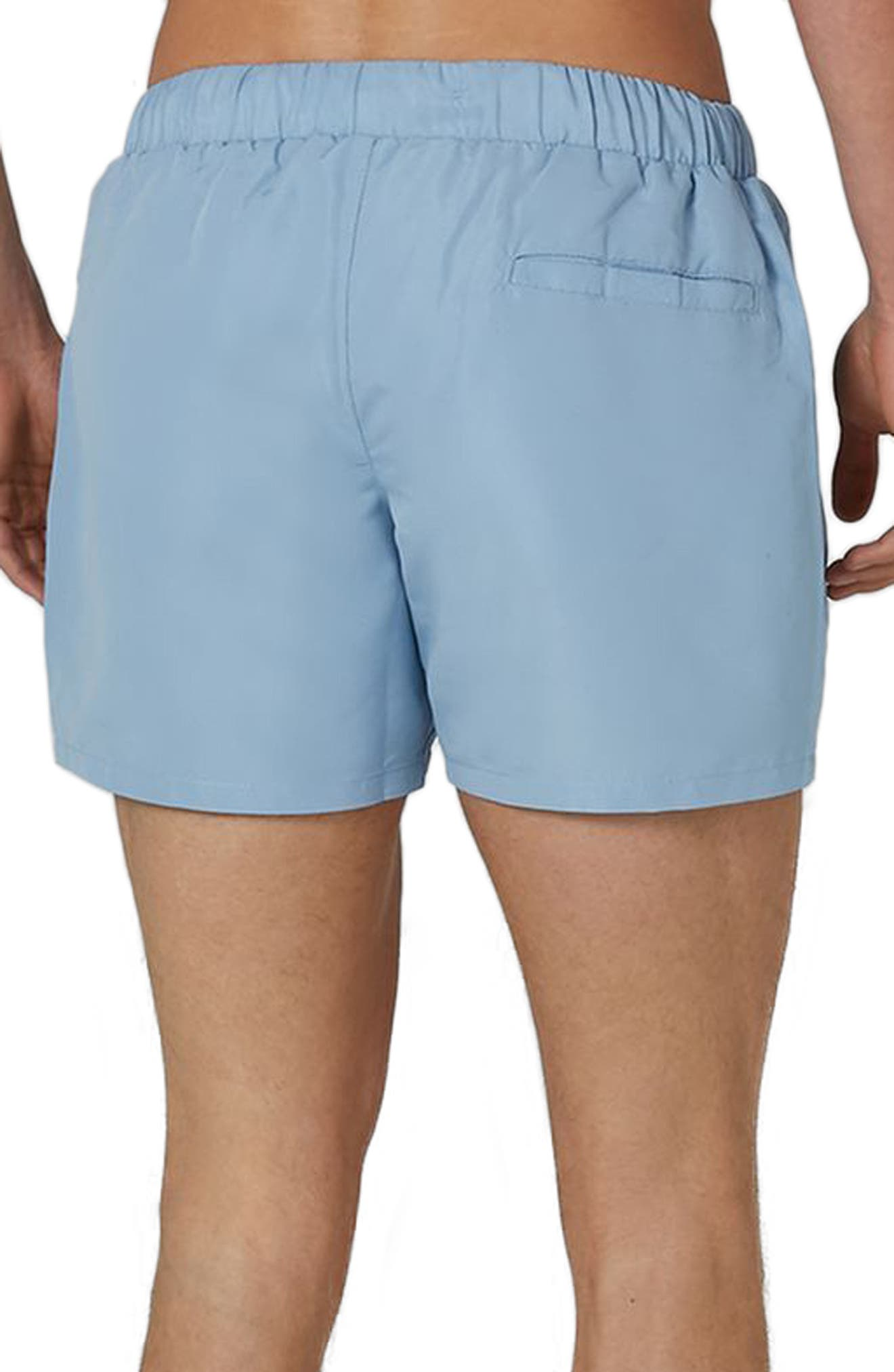Neptune Swim Trunks,                             Alternate thumbnail 2, color,                             Mid Blue