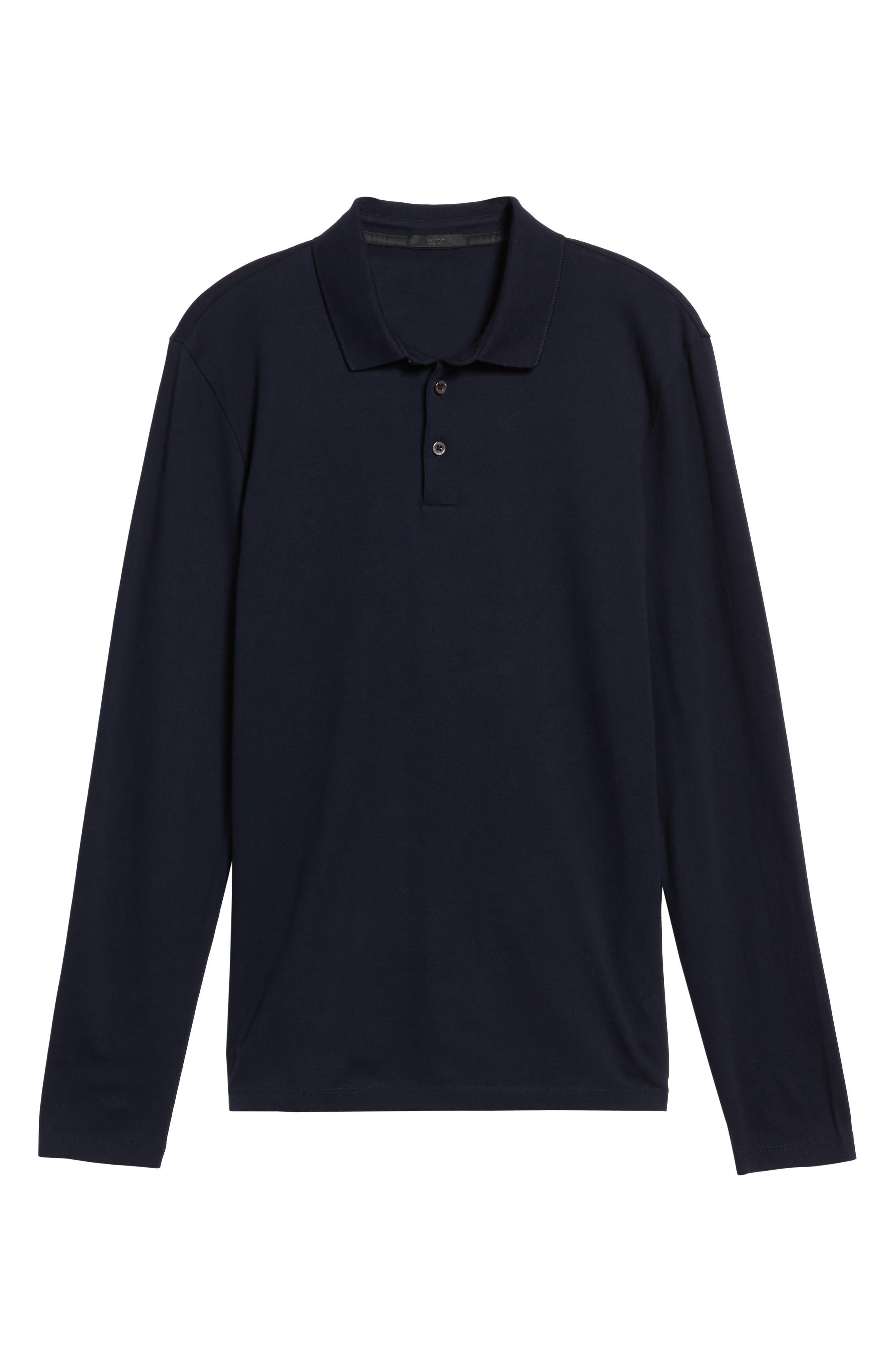 Alternate Image 6  - BOSS Pleins Slim Fit Long Sleeve Polo