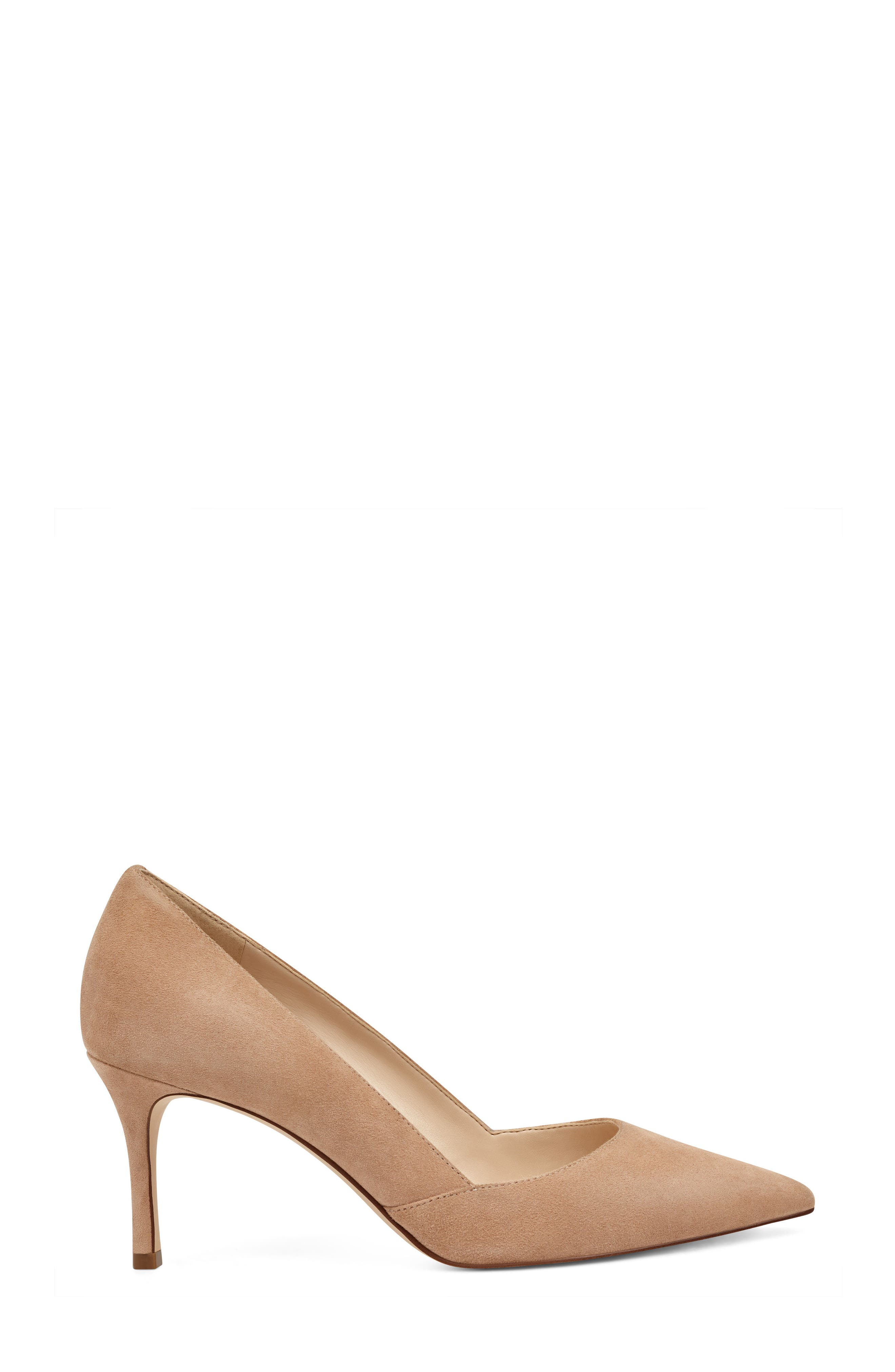 Mine Pointy Toe Pump,                             Alternate thumbnail 3, color,                             Light Natural Suede