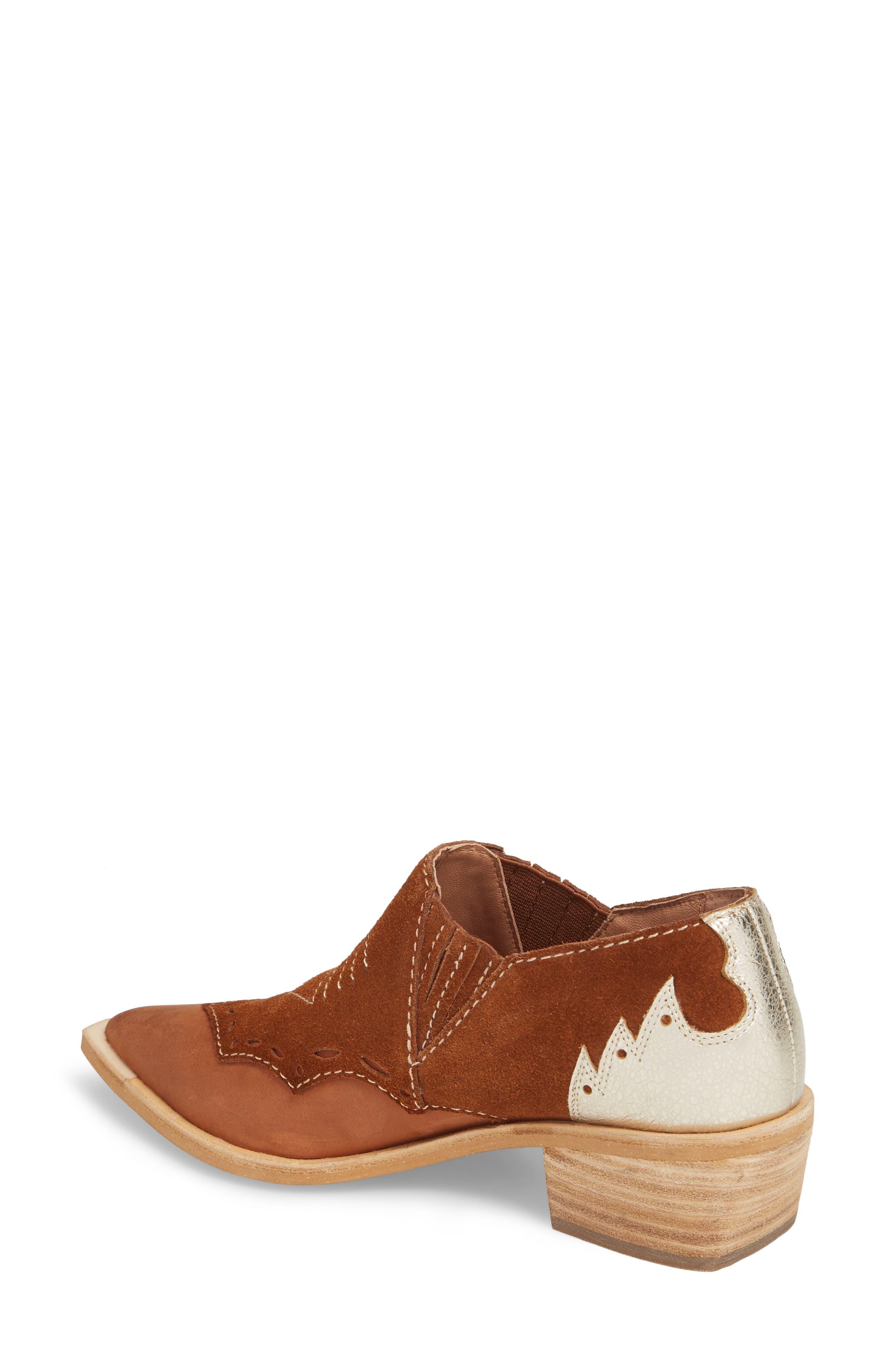 Warner Western Bootie,                             Alternate thumbnail 2, color,                             Brown/ Deep Maroon Leather